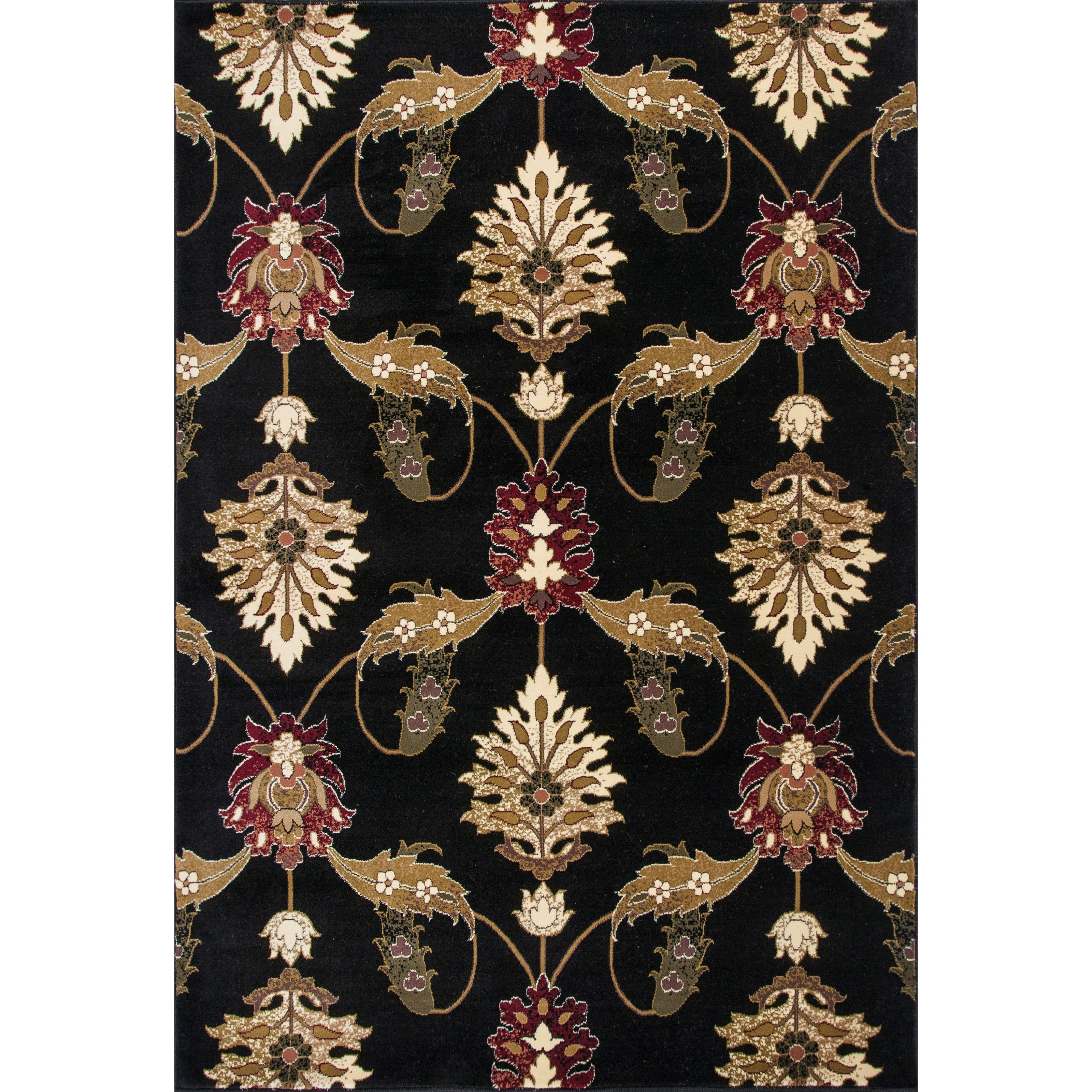 "Cambridge 1'8"" X 2'7"" Black Palazzo Area Rug by Kas at Zak's Home"