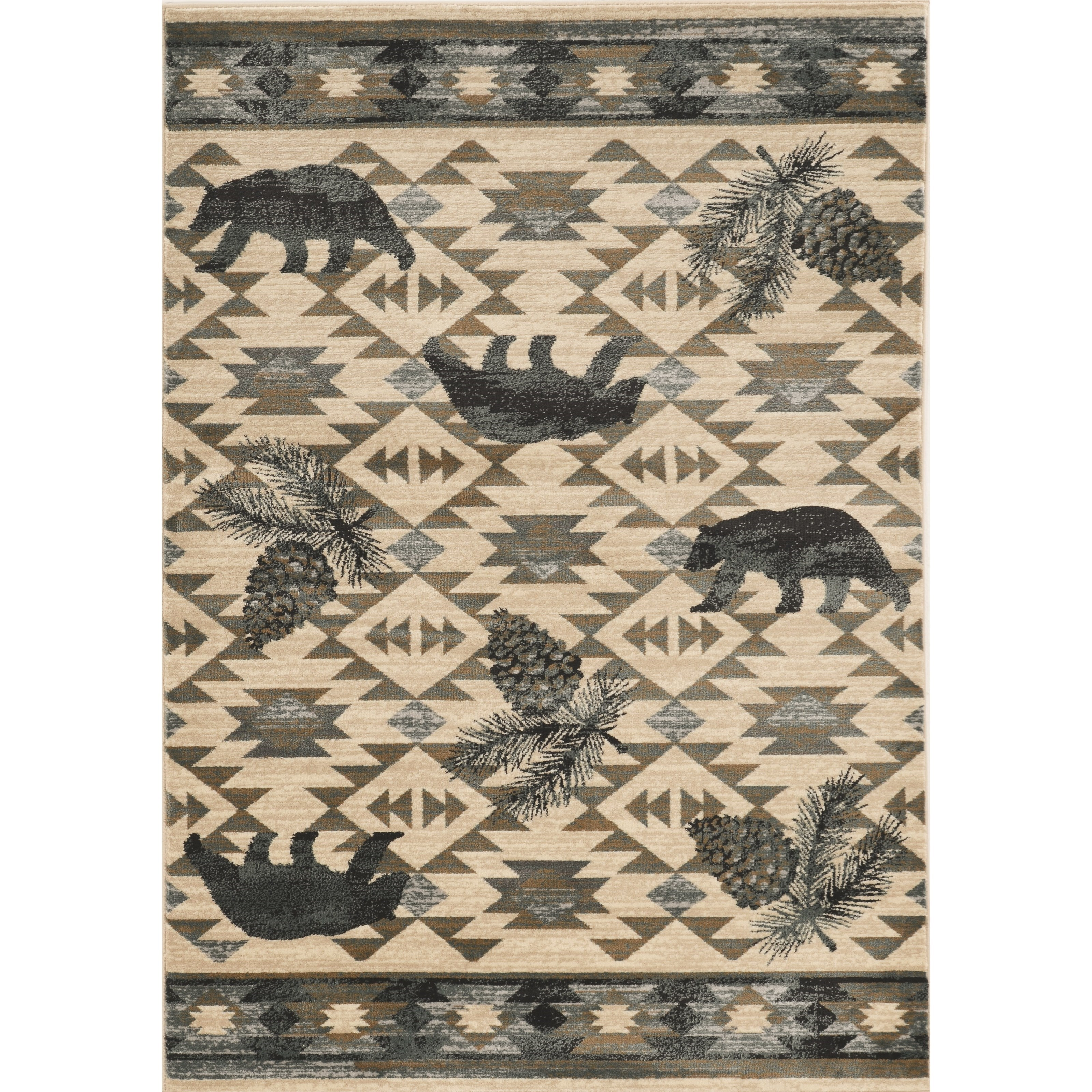 """Chester 2' x 7'7"""" Runner Ivory/Blue Montana Rug by Kas at Zak's Home"""