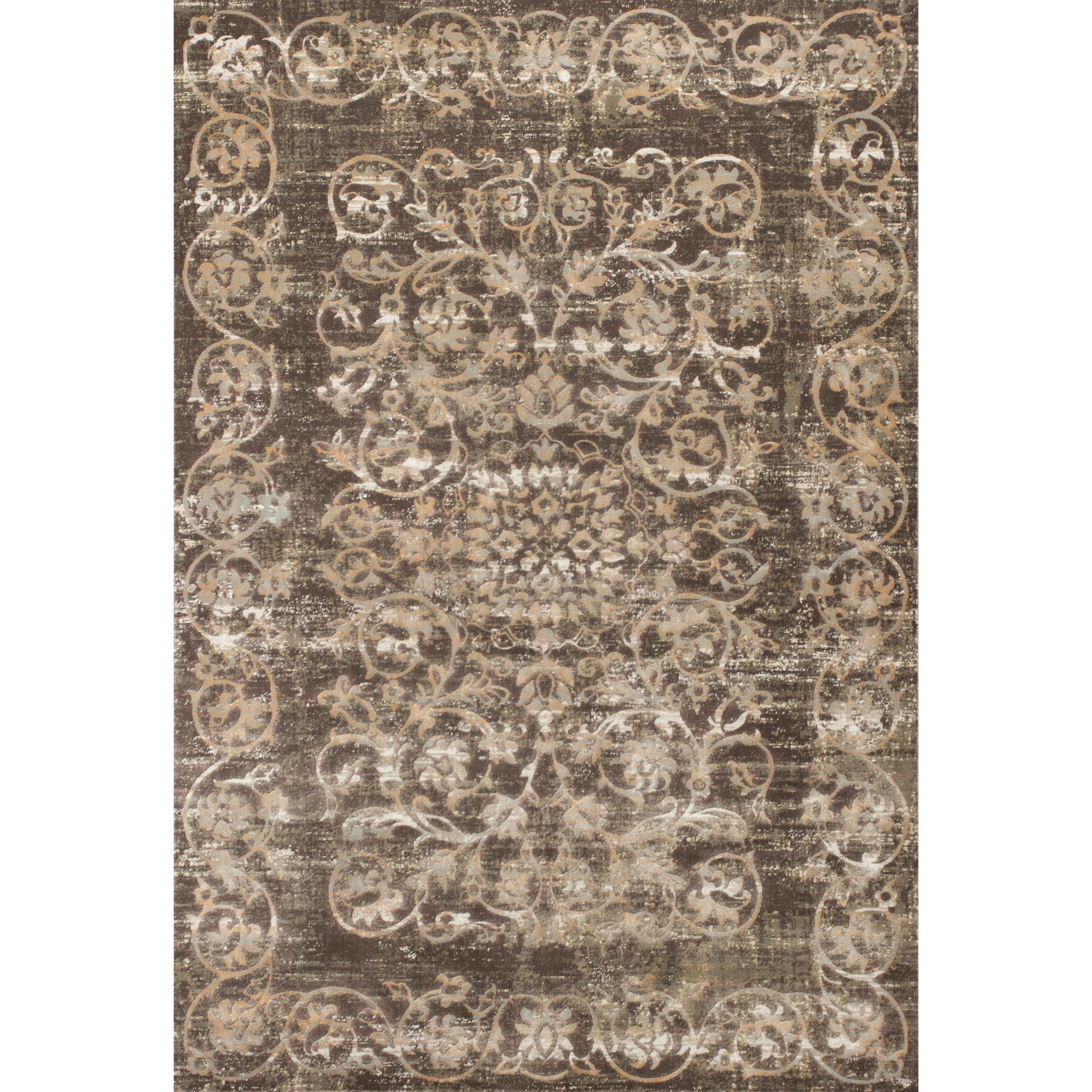 """Crete 5'3"""" X 7'7"""" Taupe Courtyard Area Rug by Kas at Zak's Home"""