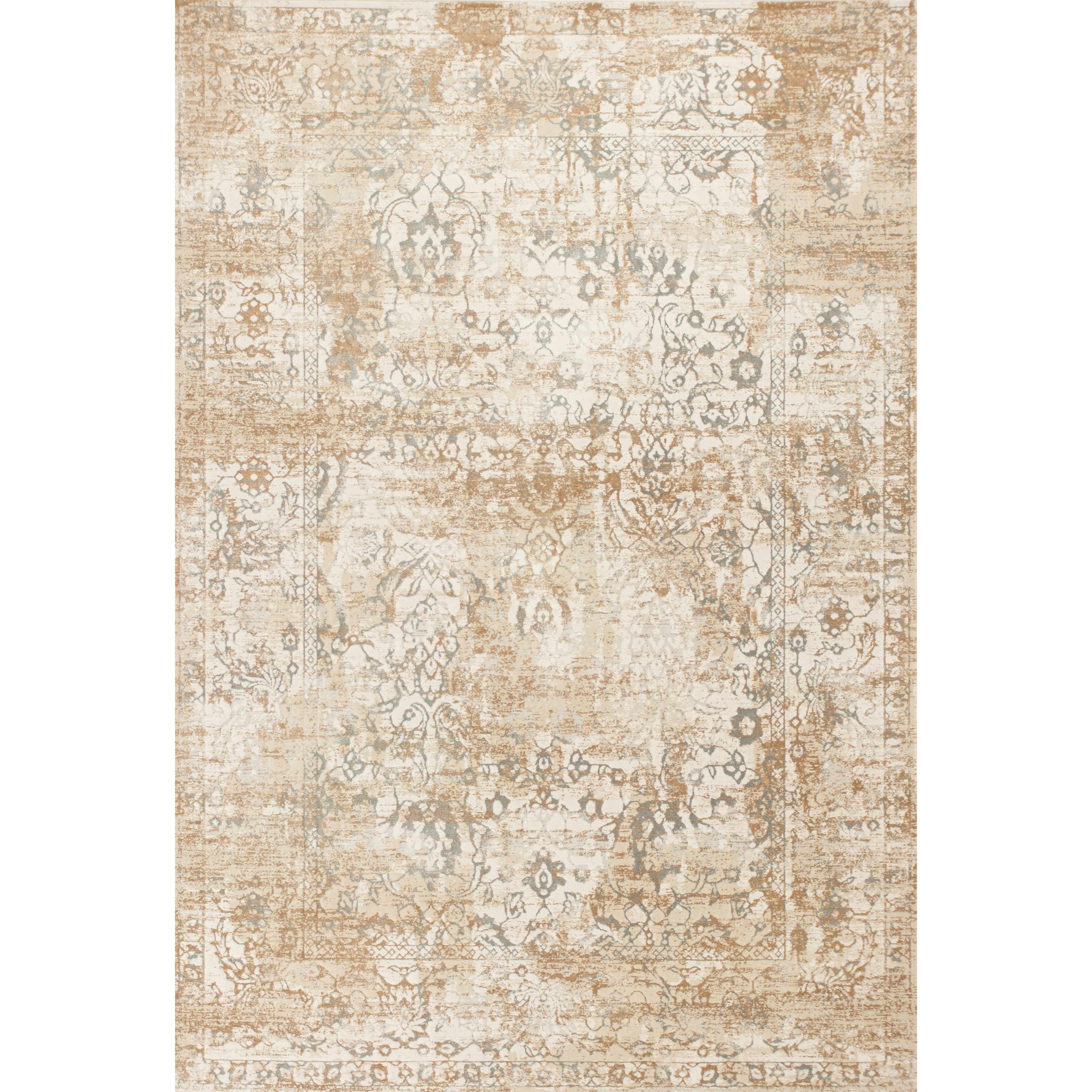 """Crete 3'3"""" X 4'7"""" Beige Illusion Area Rug by Kas at Darvin Furniture"""
