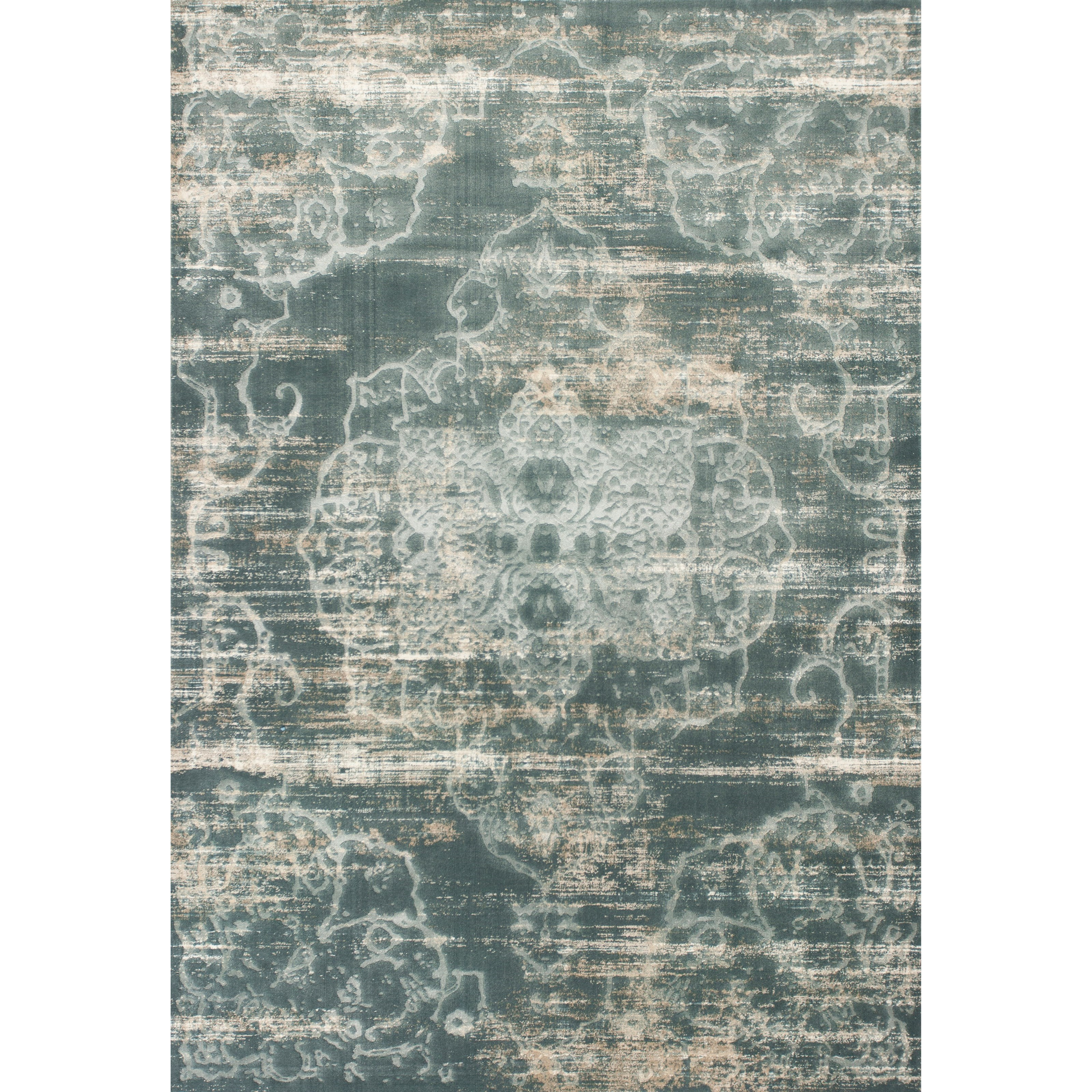 """Crete 2'2"""" X 6'11"""" Slate Traditions Area Rug by Kas at Wilson's Furniture"""