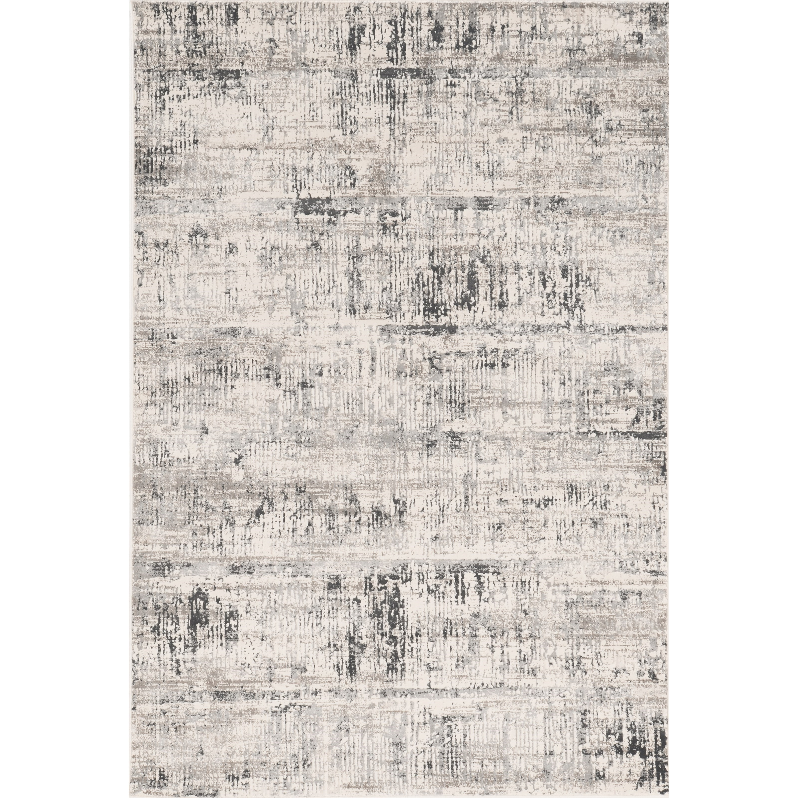 """Crete 3'3"""" x 4'7"""" Ivory Silver Luster Rug by Kas at Zak's Home"""
