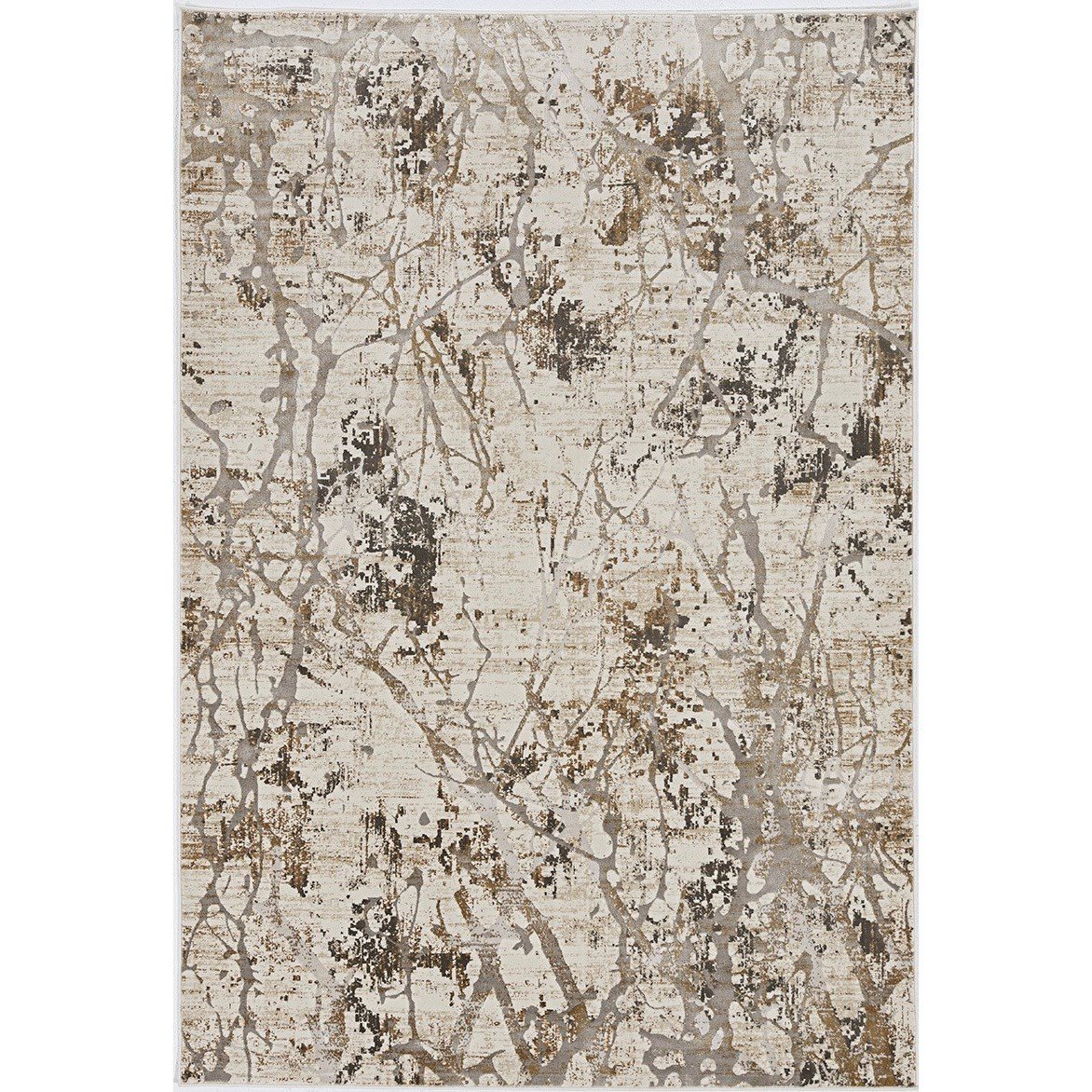 """Crete 3'3"""" x 4'7"""" Ivory Gold Highland Rug by Kas at Darvin Furniture"""