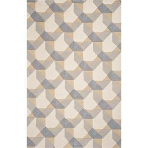 5' x 8' Ivory/Grey Elements Rug
