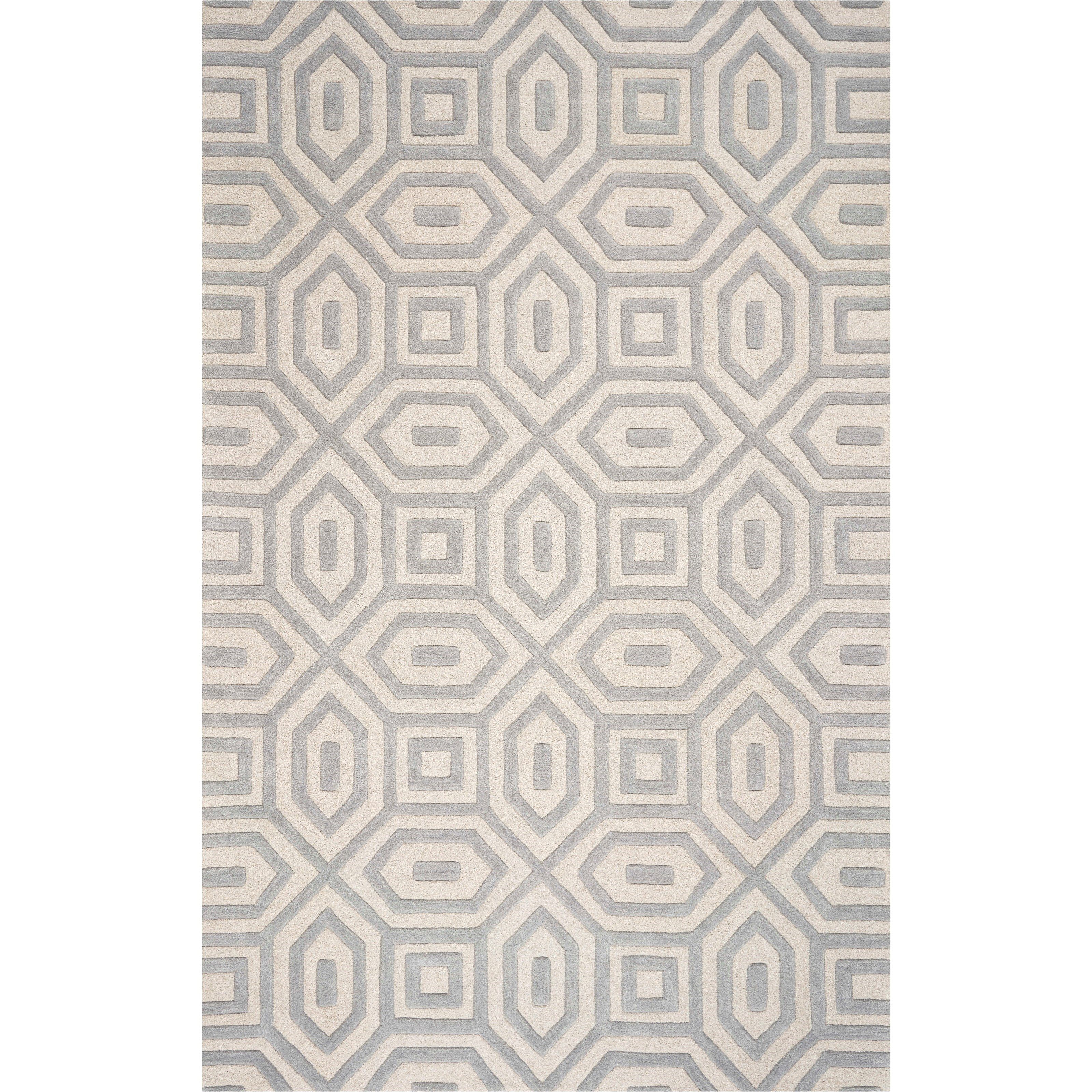 Eternity 5' x 8' Grey Escape Rug by Kas at Zak's Home