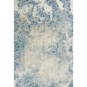 """7'7"""" x 10'10"""" Ivory/Blue Accents Rug"""