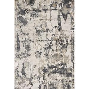 "5'3"" x 7'7"" Ivory/Grey Watercolors Rug"