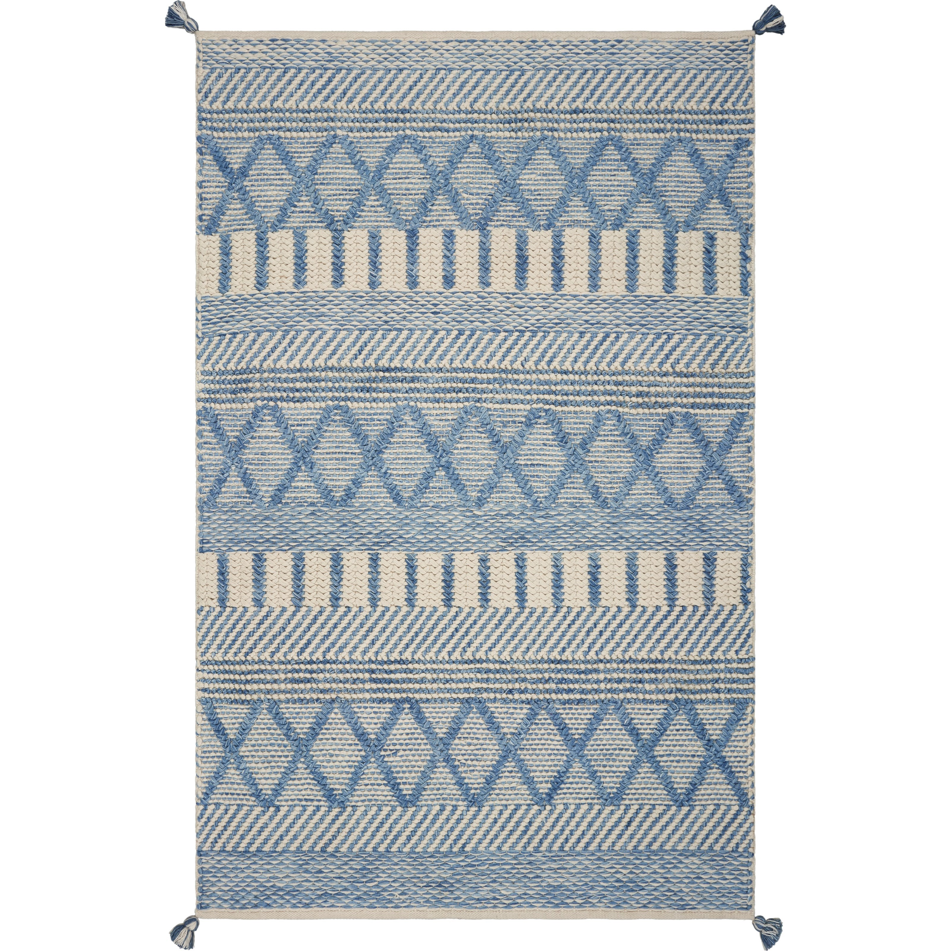 "Hang Ten: Malibu 3'3"" x 5'3"" Denim Santa Cruz Rug by Kas at Zak's Home"
