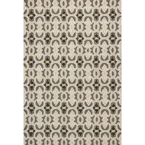 "5' X 7'6"" Charcoal Scrollwork Area Rug"