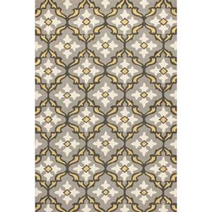 "3'3"" X 5'3"" Grey/Gold Mosaic Area Rug"