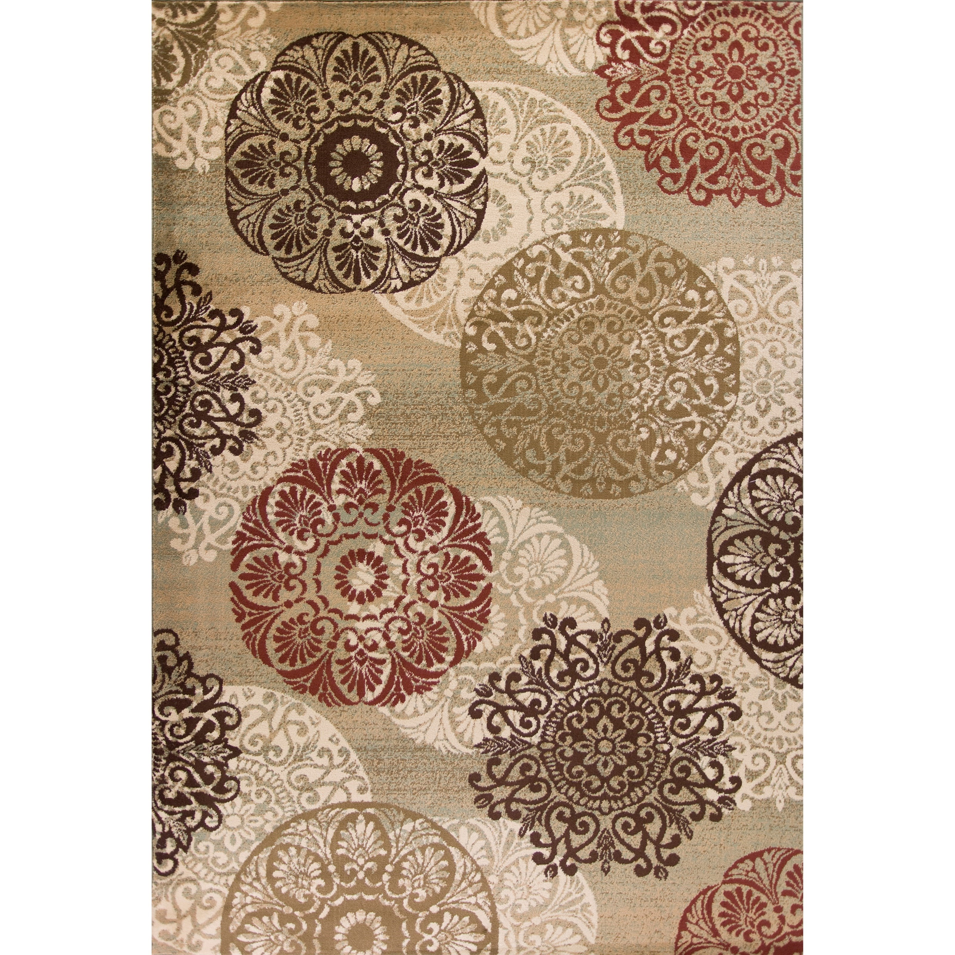 """Heritage 5'3"""" X 7'8"""" Sage Accents Area Rug by Kas at Zak's Home"""