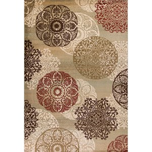 """5'3"""" X 7'8"""" Sage Accents Area Rug"""