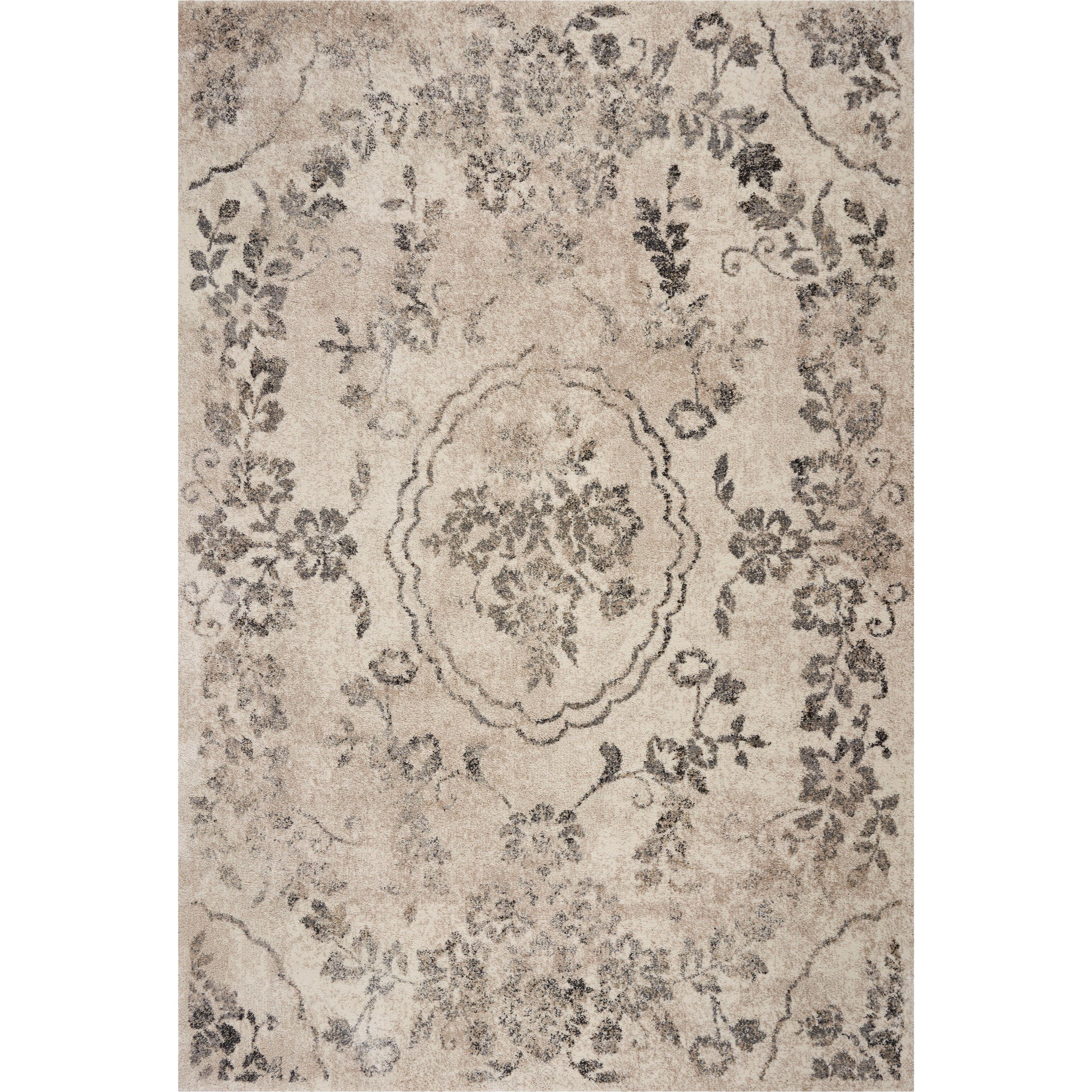 """Hue 5'3"""" x 7'7"""" Grey Timeless Rug by Kas at Darvin Furniture"""
