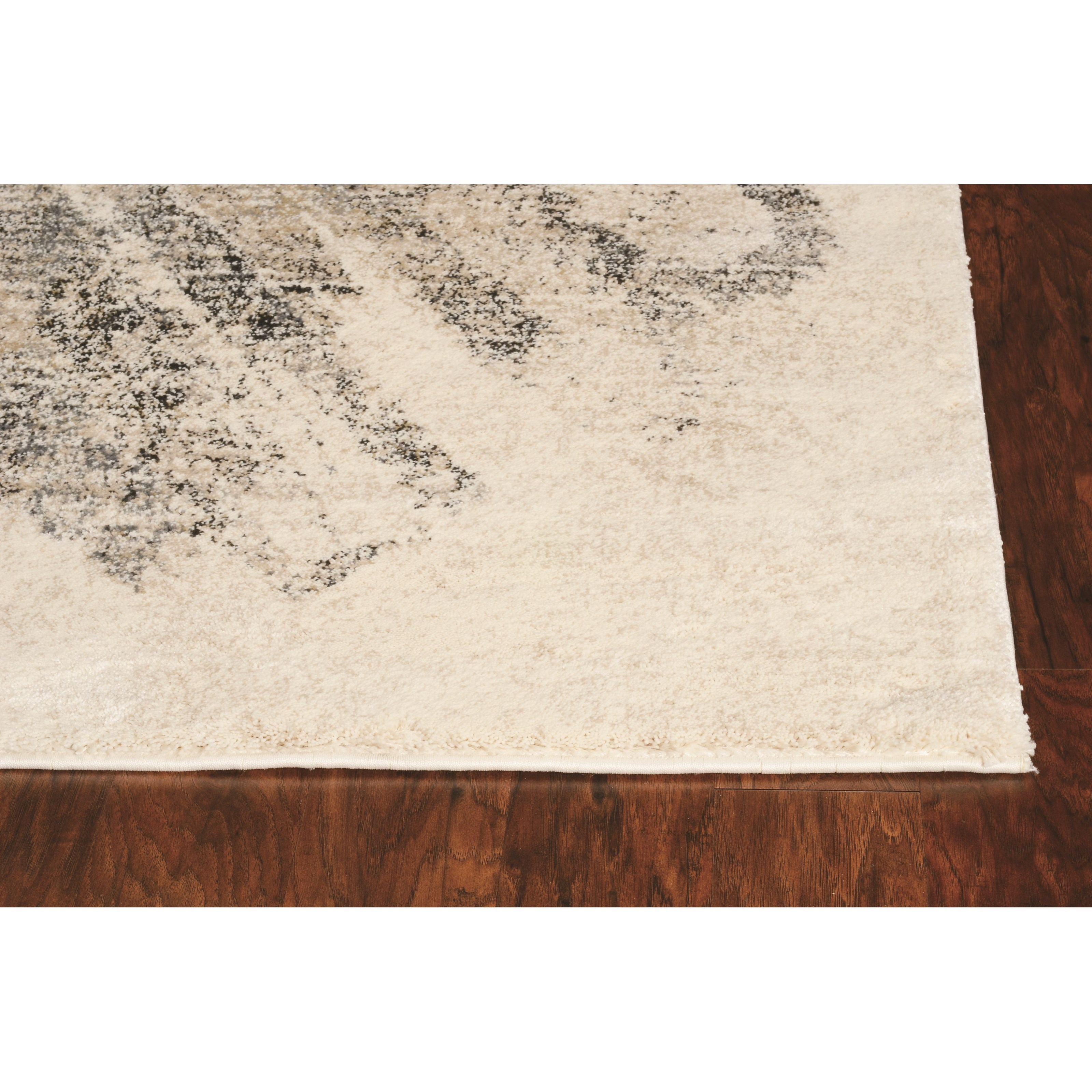 """Hue 2'2"""" x 7'6"""" Runner Ivory/Grey Luster Rug by Kas at Zak's Home"""