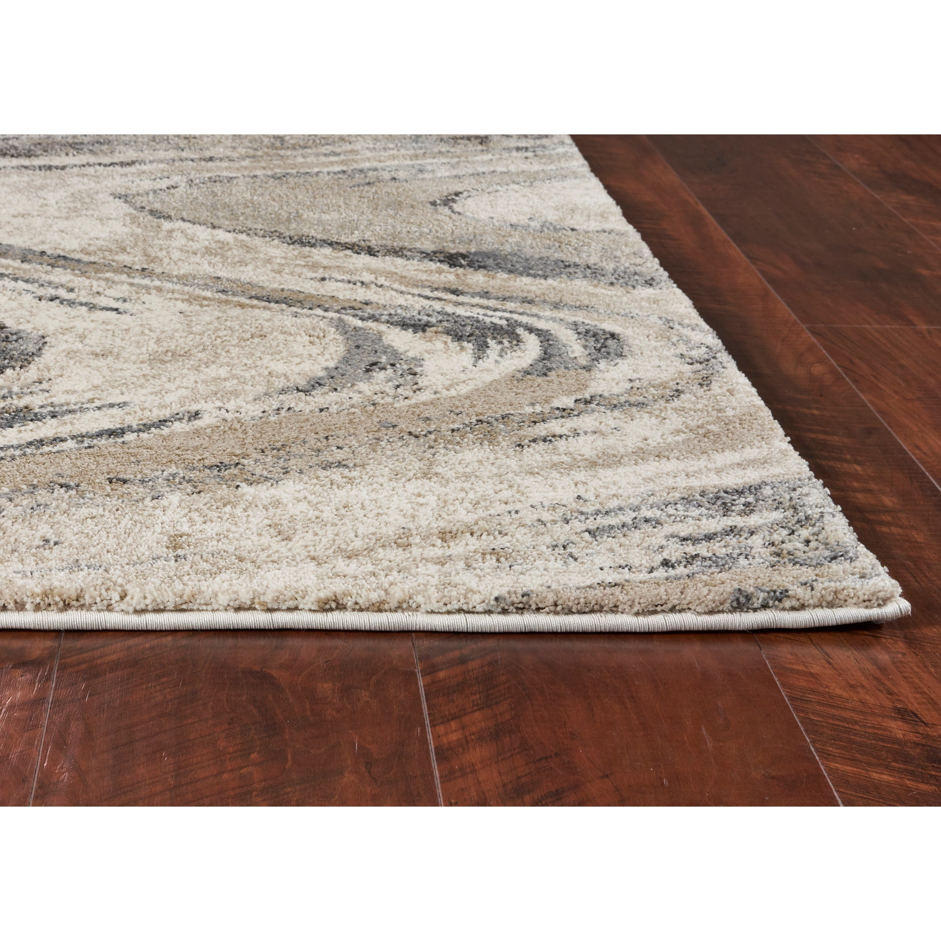 "Hue 2'2"" x 7'6"" Runner Natural Groove Rug by Kas at Zak's Home"