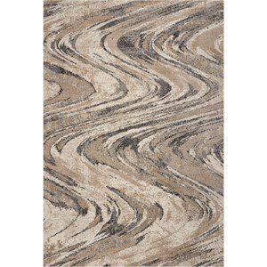 """7'10"""" x 9'10"""" Natural Groove Rug"""