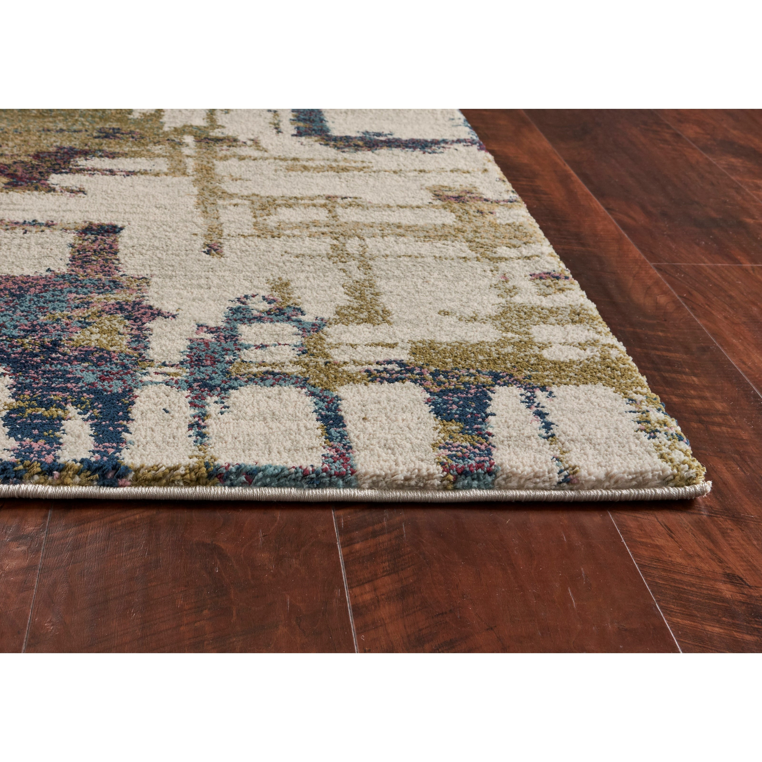"""Hue 2'2"""" x 7'6"""" Runner Ivory Cityscape Rug by Kas at Wilson's Furniture"""