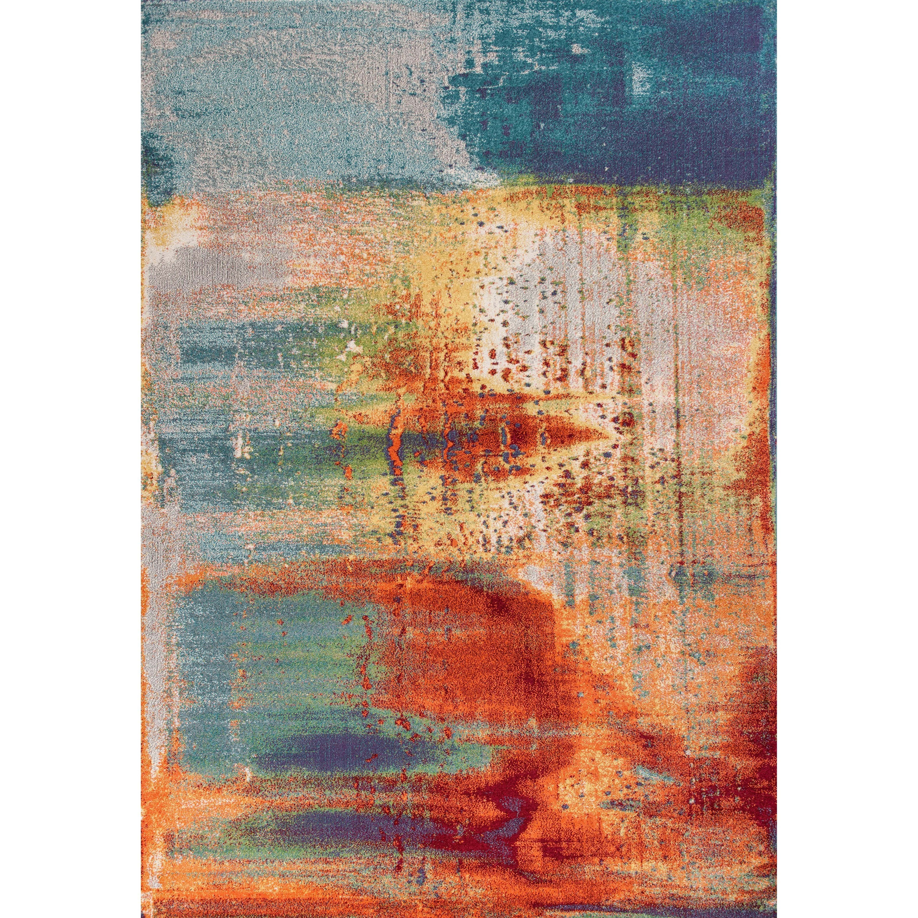 "Illusions 7'7"" X 5'3"" Area Rug by Kas at Darvin Furniture"