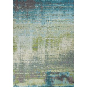 "10'10"" X 7'10"" Blue/Green Escape Area Rug"