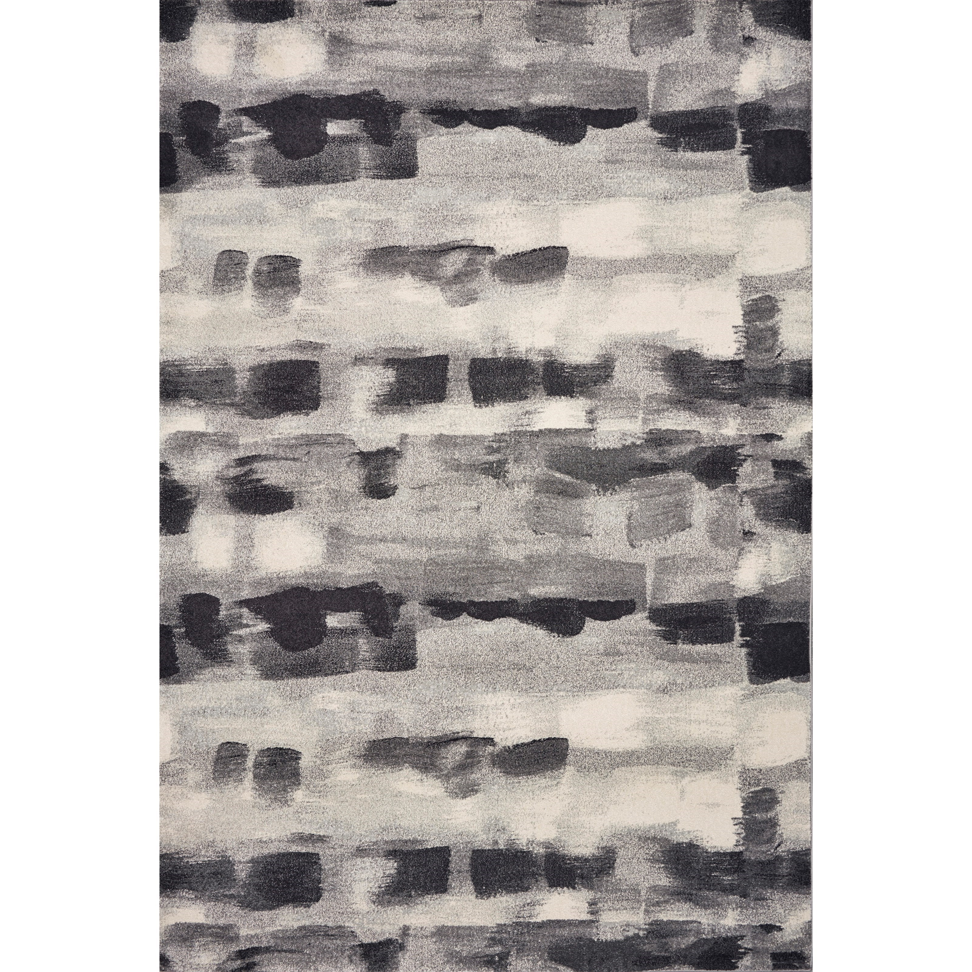 "Illusions 3'3"" x 4'11"" Grey Palette Rug by Kas at Zak's Home"