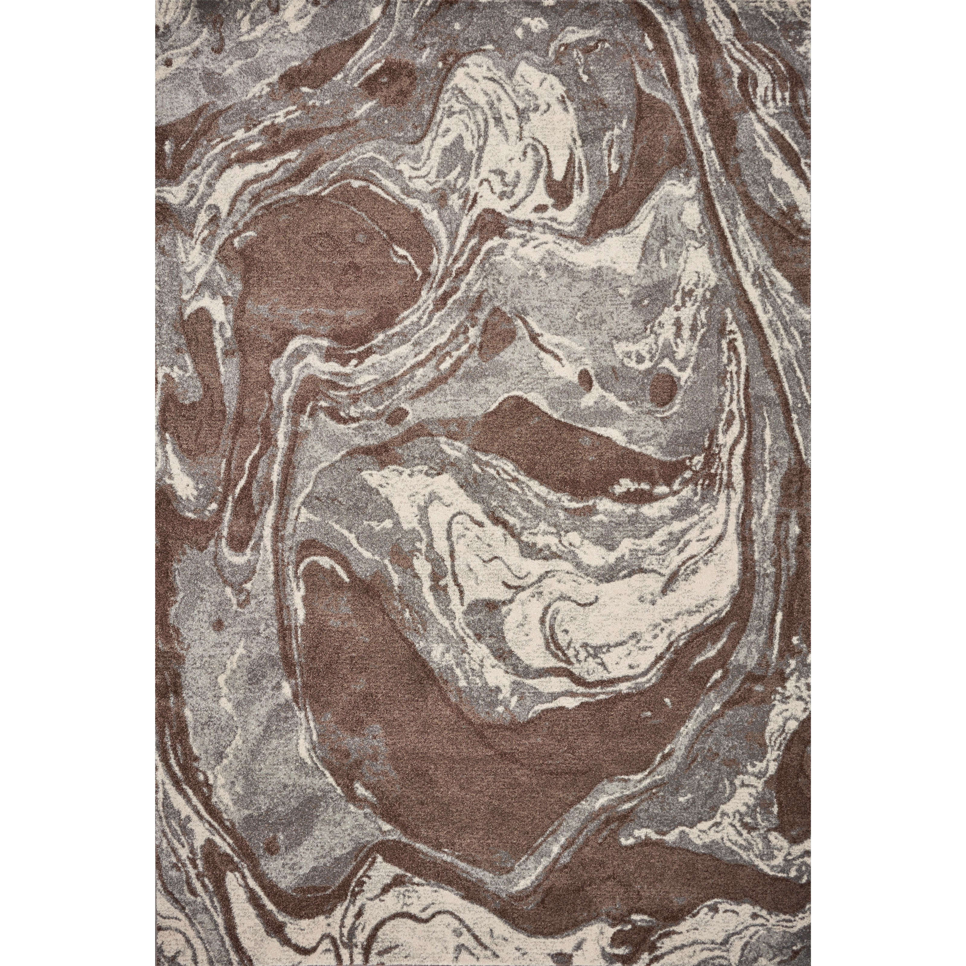 """Illusions 7'10"""" x 10'10"""" Mocha Flow Rug by Kas at Darvin Furniture"""