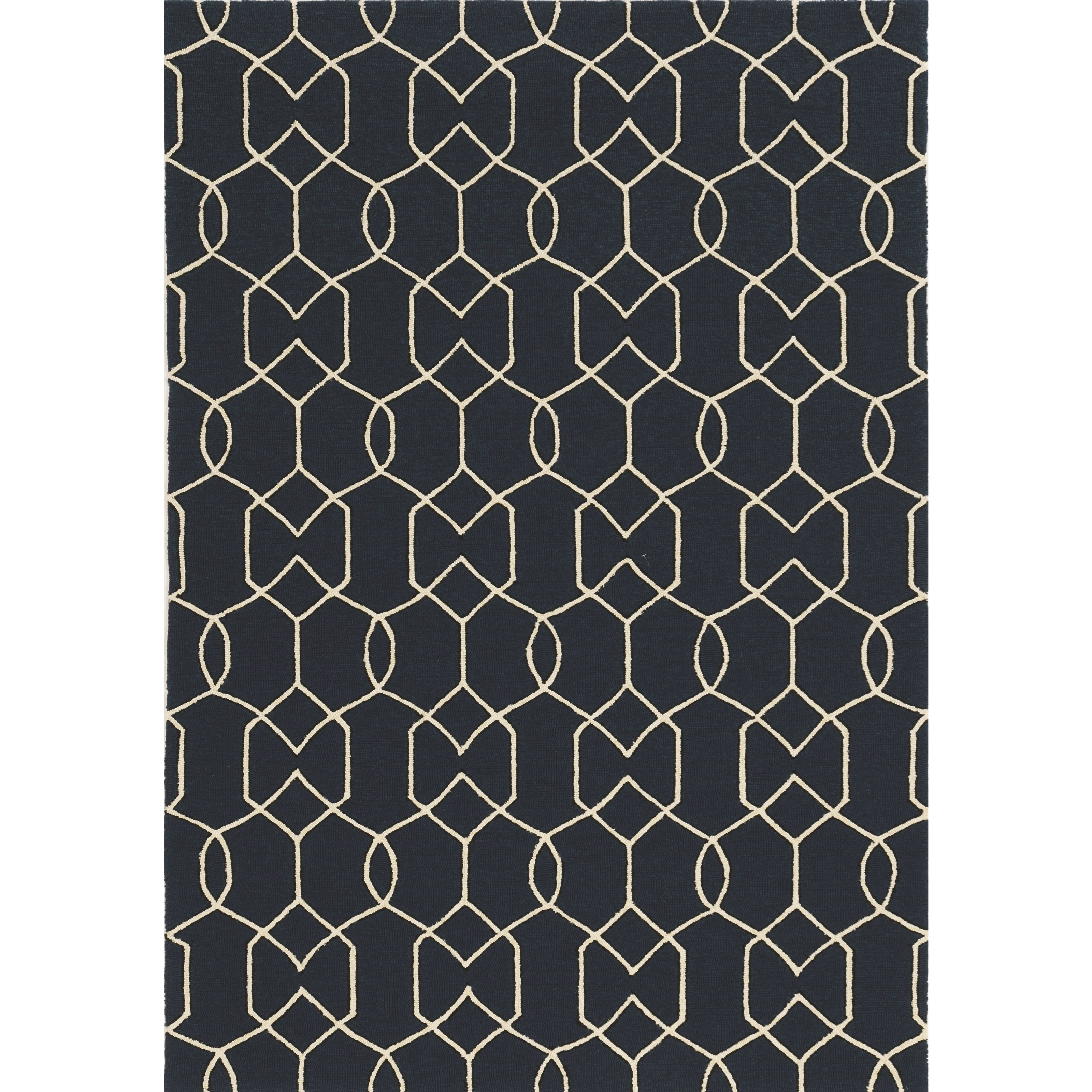 Libby Langdon Hamptons 5' x 7' Navy Groovy Gate Rug by Kas at Zak's Home