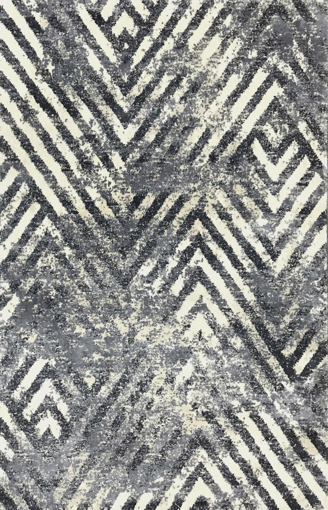 MADISON IVORY/SLATE 5X7.6 RUG by Kas at Walker's Furniture
