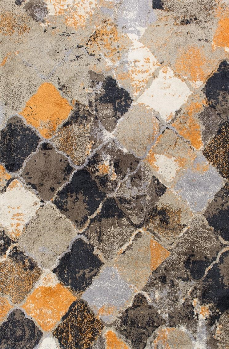 MADISON 5X7.6 MULTI ABSTRACT RUG by Kas at Walker's Furniture