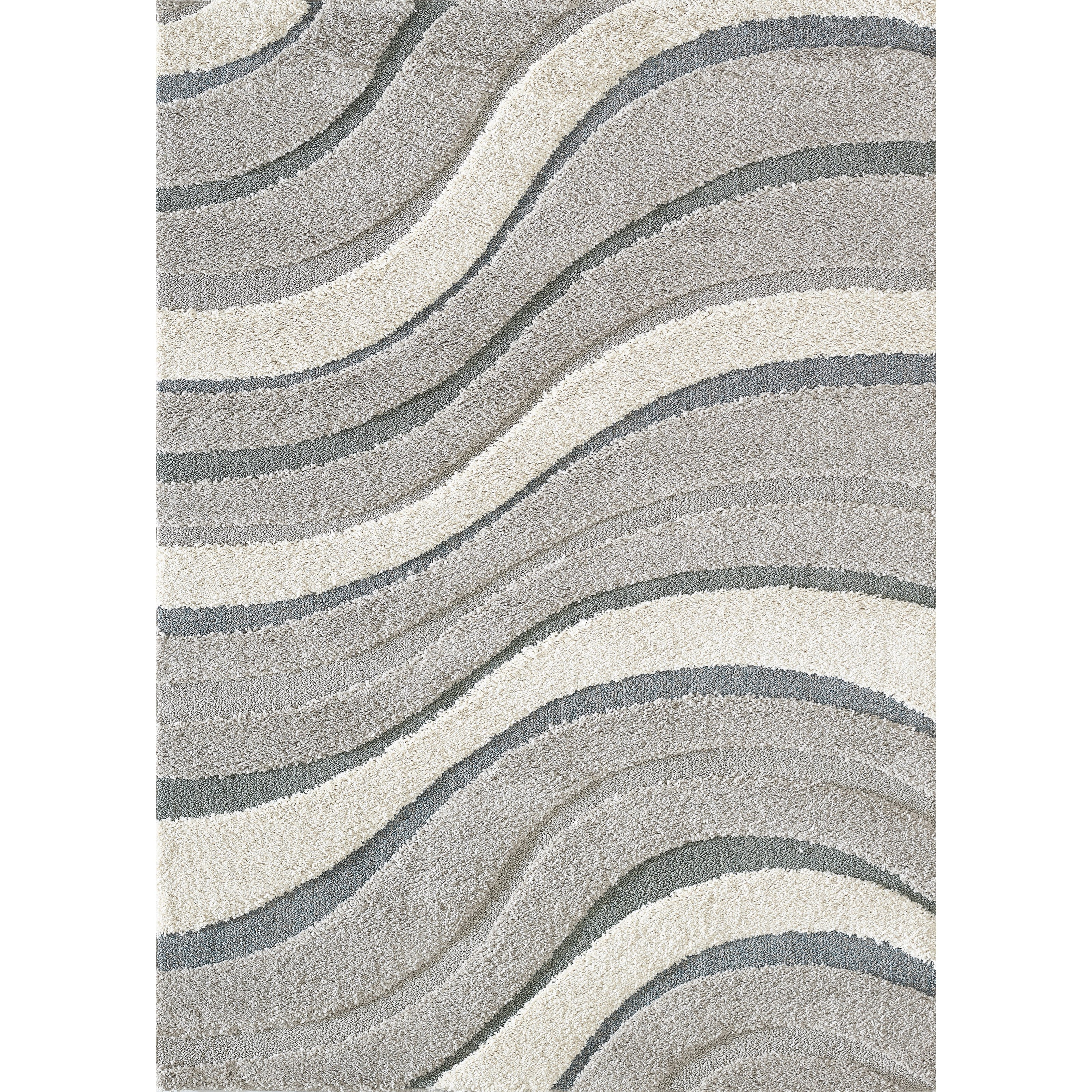 """Monterry 3'3"""" x 5'3"""" Grey Waves Rug by Kas at Zak's Home"""