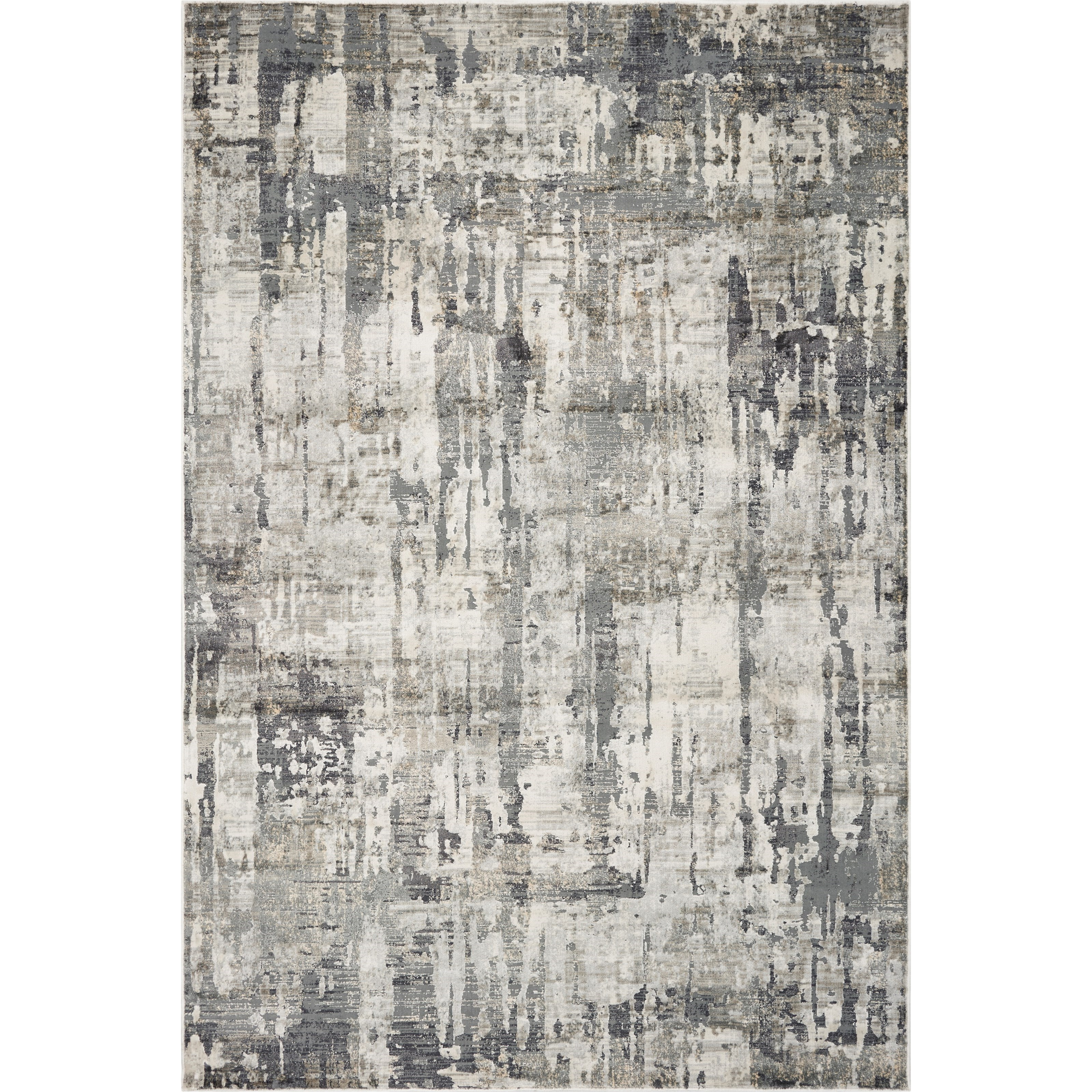"""Montreal 5'3"""" x 7'7"""" Grey Moderne Rug by Kas at Zak's Home"""