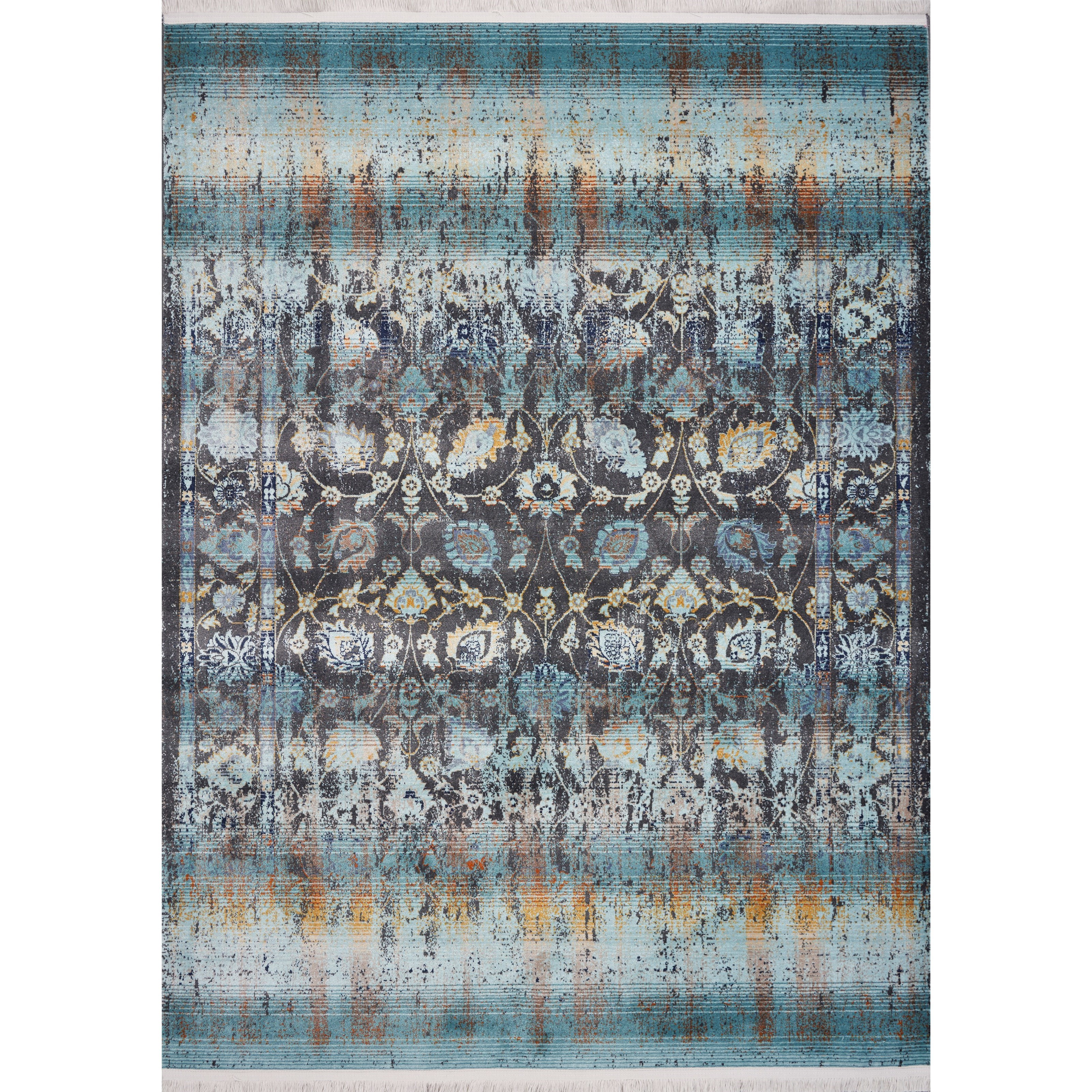 """Papillon 3'3"""" x 4'11"""" Turquoise Charisma Rug by Kas at Wilson's Furniture"""
