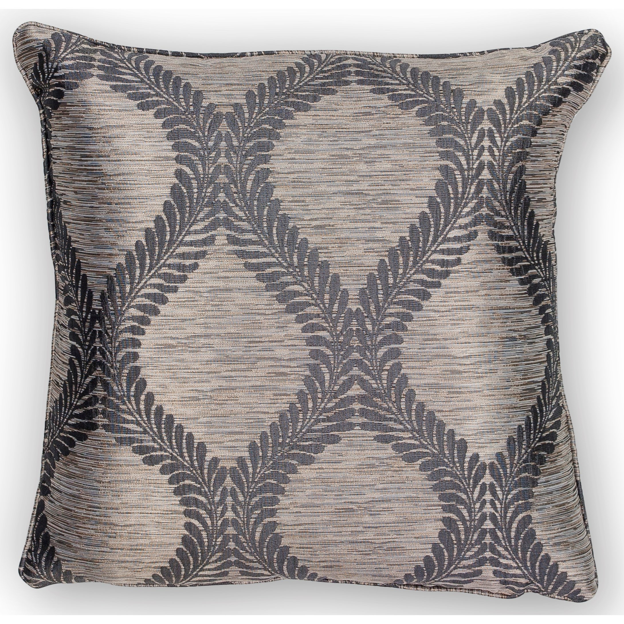 "Pillow 20"" X 20"" Grey Elegance Pillows by Kas at Zak's Home"