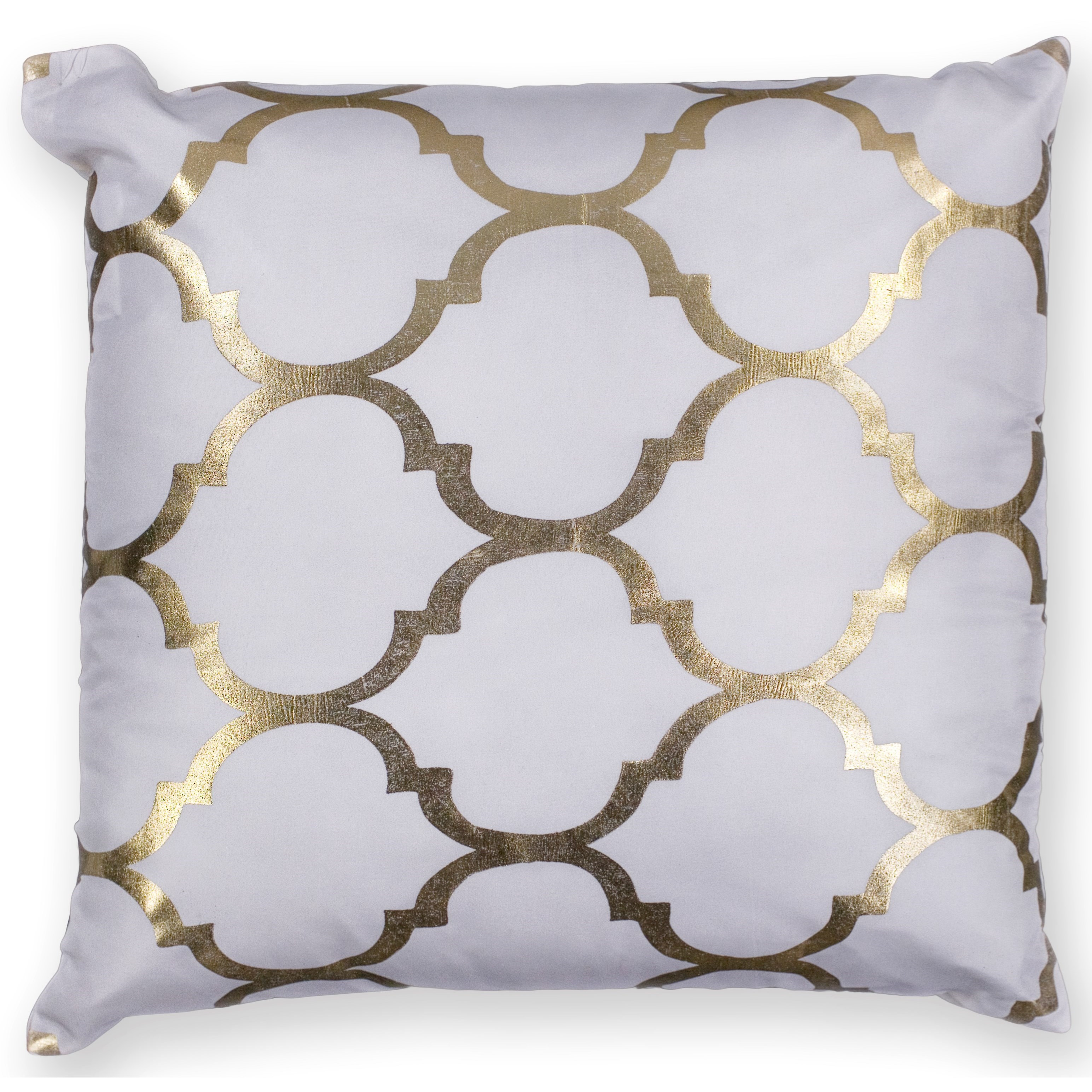 "Pillow 18"" X 18"" Ivory Trellis Pillows by Kas at Zak's Home"