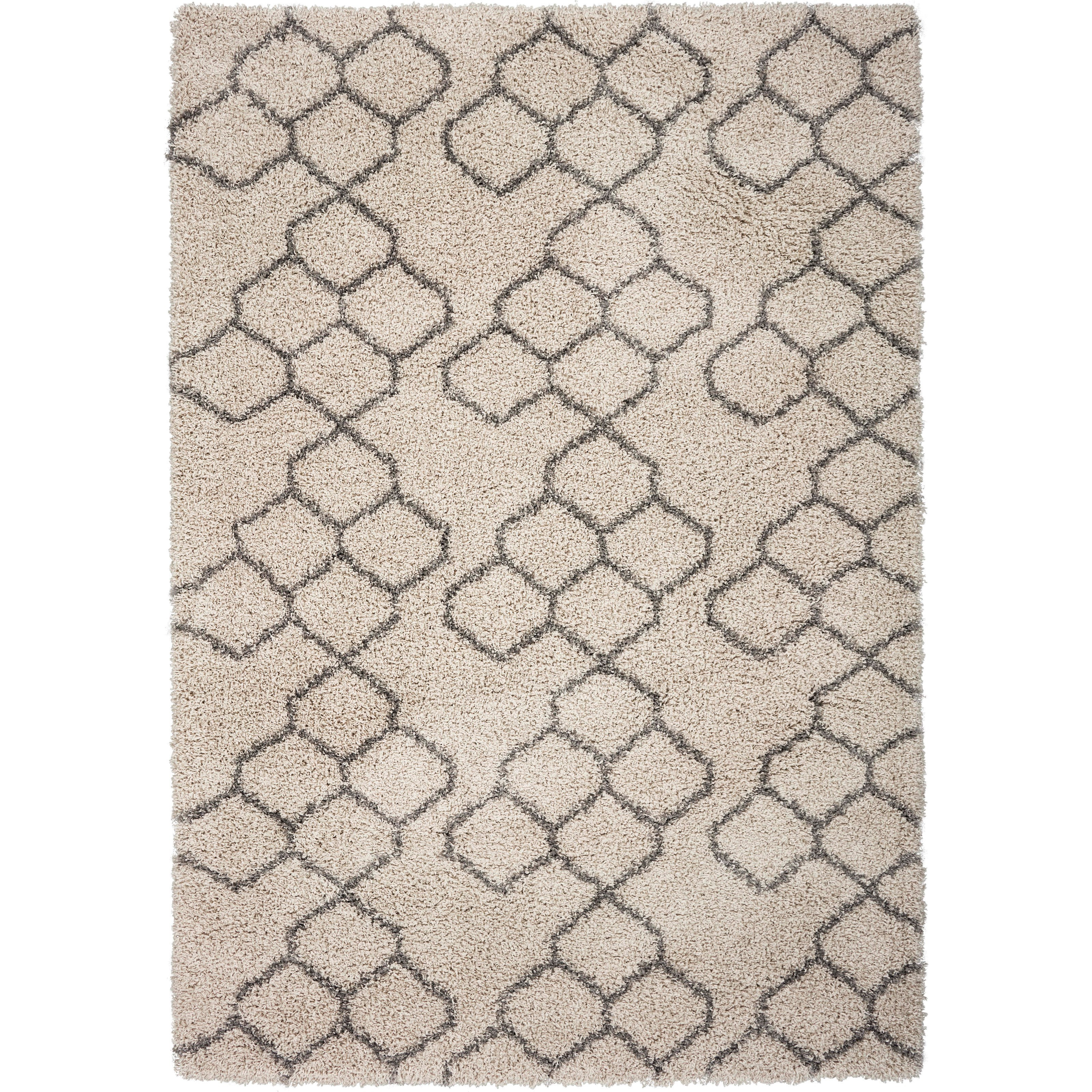"""Prima 5'3"""" x 7'7"""" Natural Honeycomb Rug by Kas at Zak's Home"""