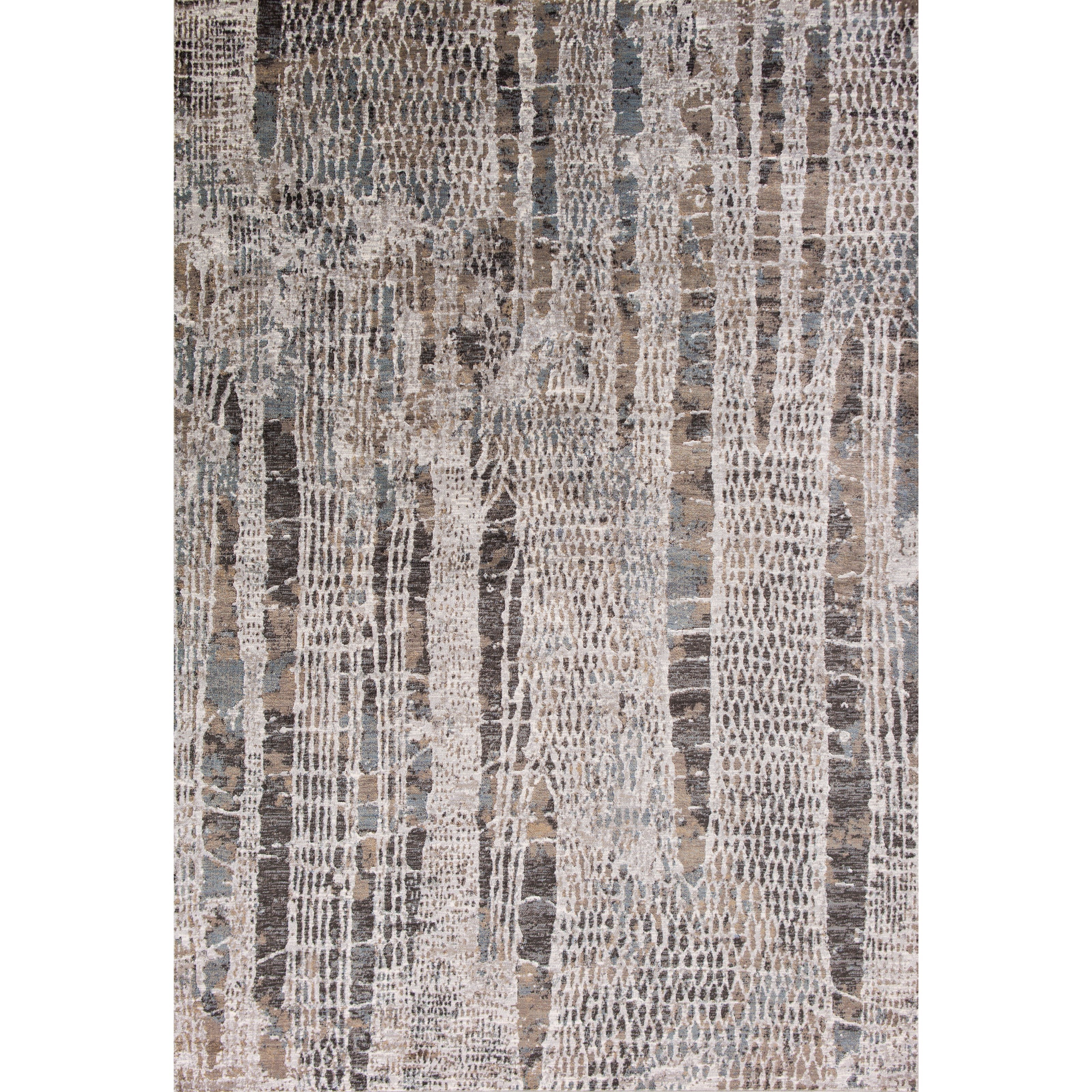 """Provence 3'3"""" X 4'7"""" Silver Natures Elements Area Rug by Kas at Zak's Home"""