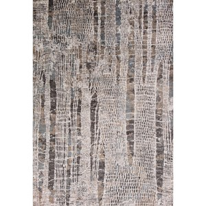 """7'10"""" X 11'2"""" Silver Natures Elements Area Rug"""