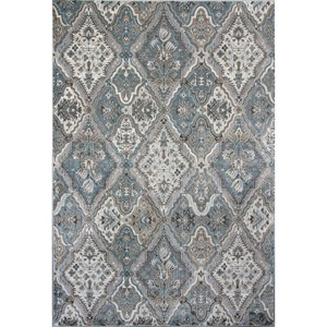 "3'3"" X 4'7"" Silver / Blue Palazzo Area Rug"