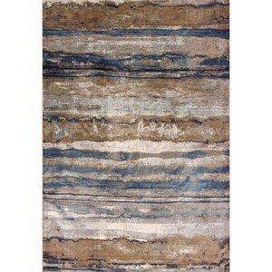 "7'10"" X 11'2"" Ivory/Blue Landscape Area Rug"
