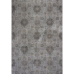 "2'2"" X 6'11"" Silver Allover Kashan Area Rug"