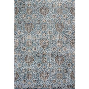 "5'3"" X 7'7"" Slate Blue Allover Kashan Area Rug"