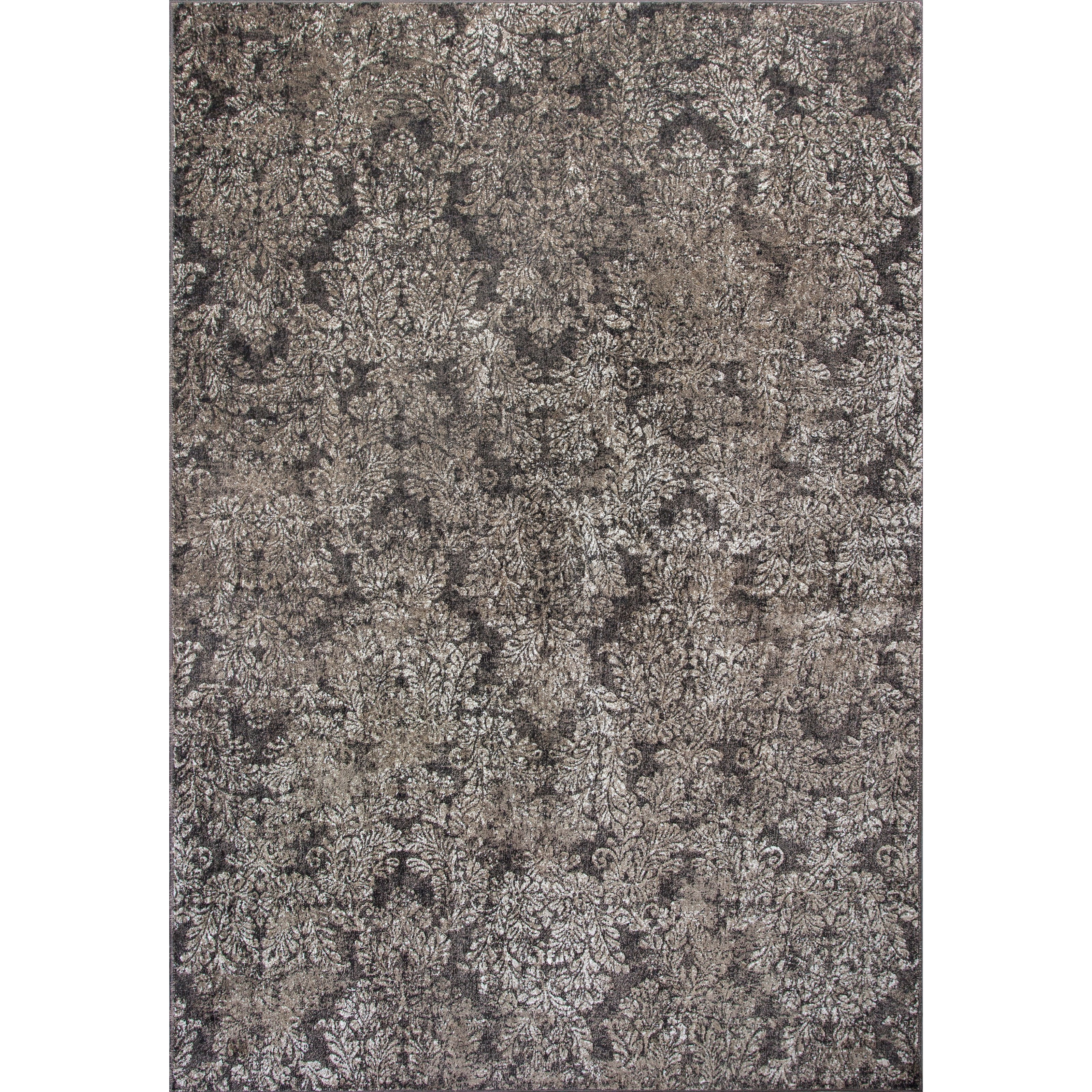 """Provence 7'10"""" X 11'2"""" Taupe/Sand Damask Area Rug by Kas at Zak's Home"""