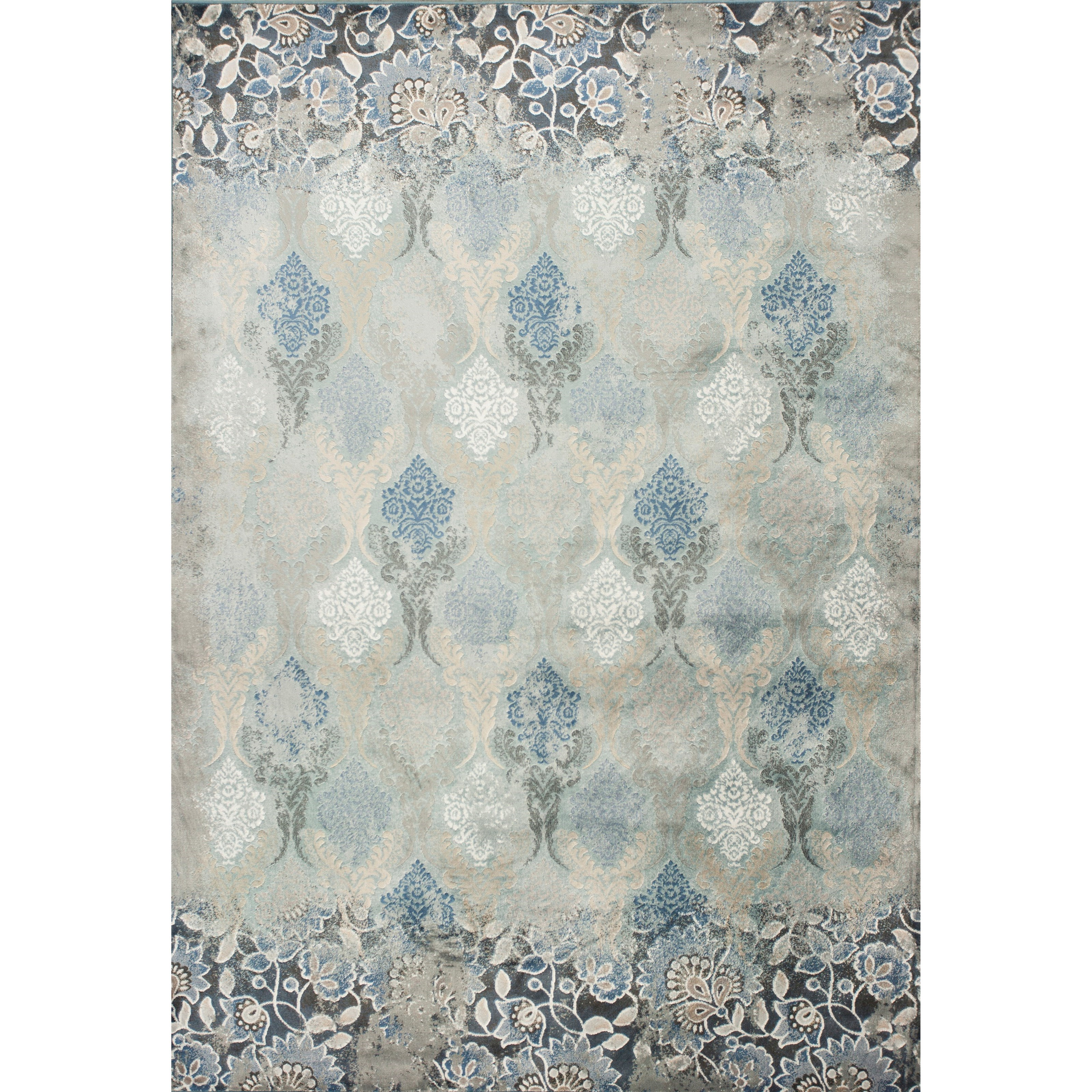 """Provence 2'2"""" X 3'7"""" Slate Blue Brighton Area Rug by Kas at Zak's Home"""