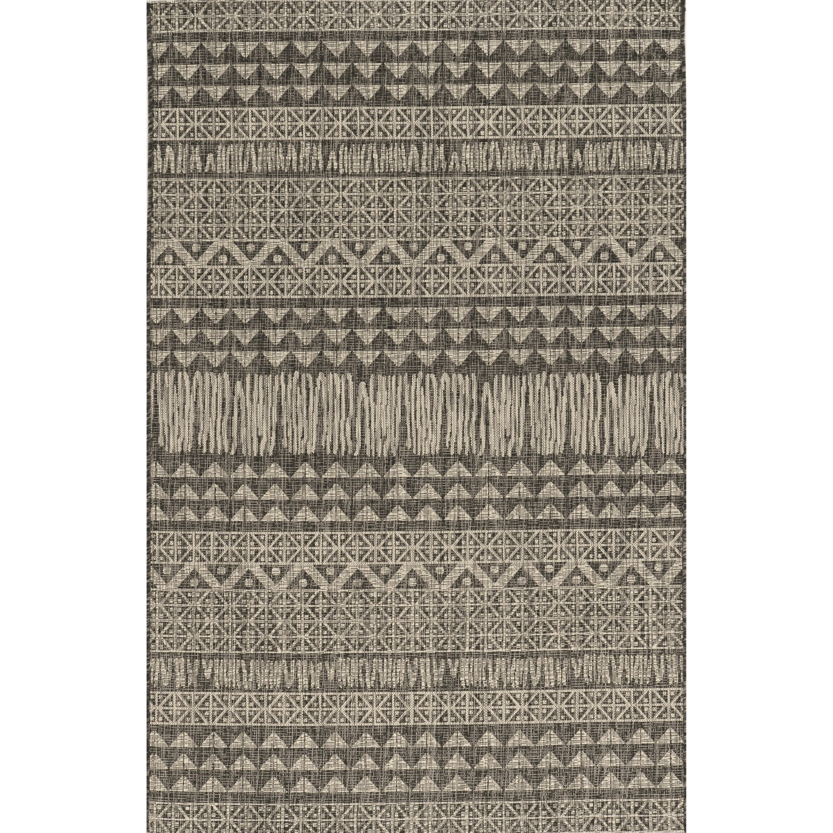 "Provo 7'10"" x 10'10"" Charcoal Tribe Rug by Kas at Wilson's Furniture"
