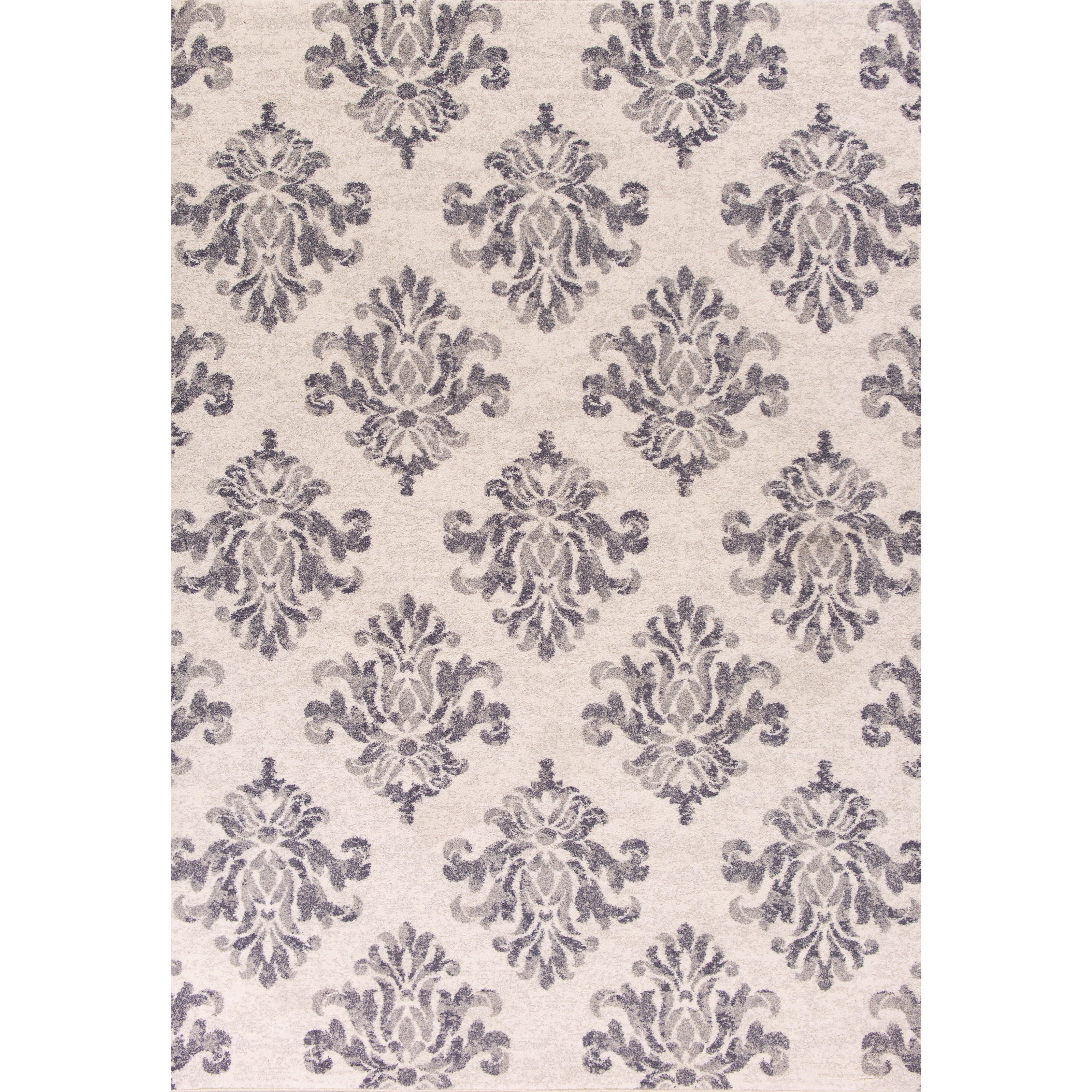 """Reflections 7'10"""" X 11'2"""" Grey Damask Area Rug by Kas at Wilson's Furniture"""
