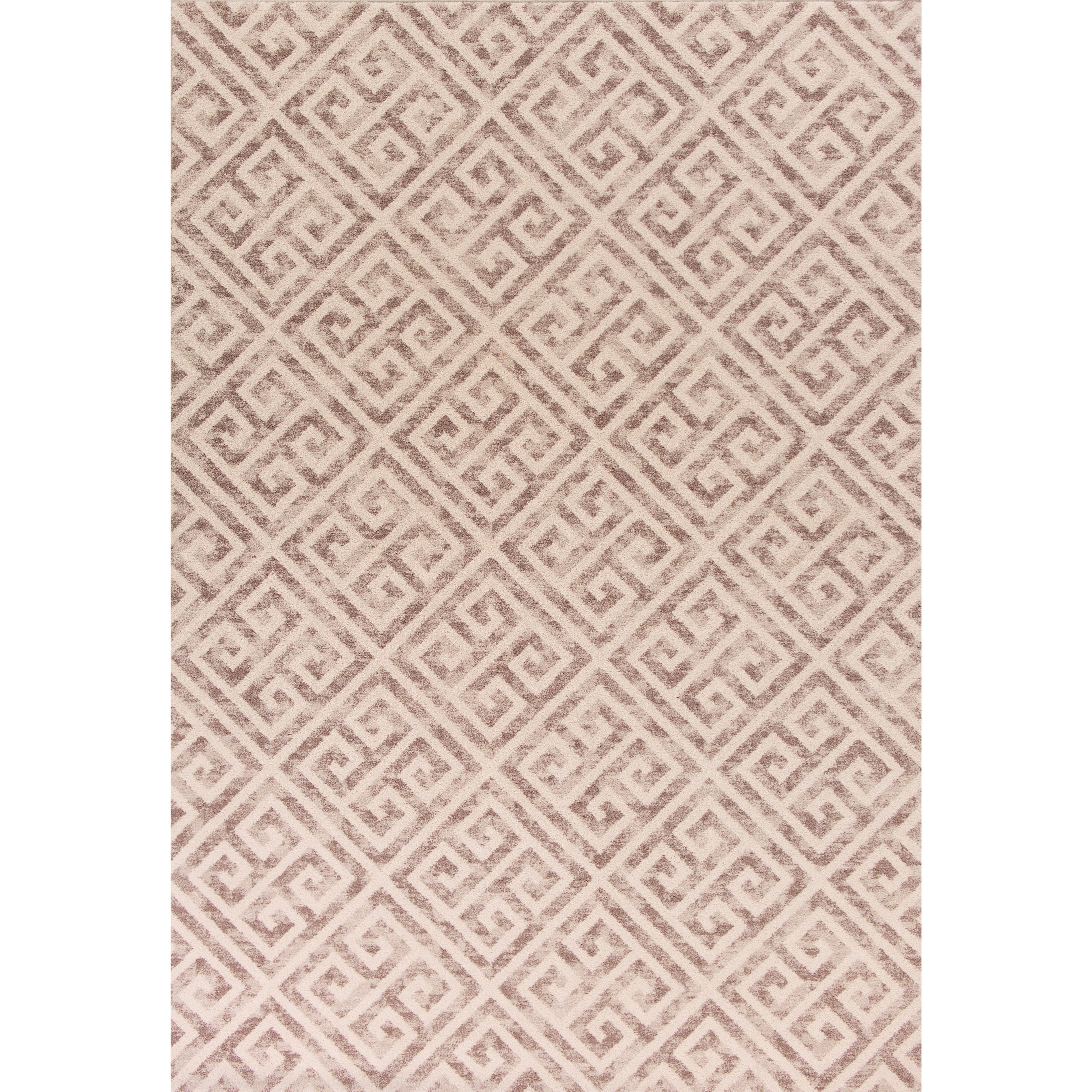 """Reflections 5'3"""" X 7'7"""" Taupe Greek Key Area Rug by Kas at Zak's Home"""