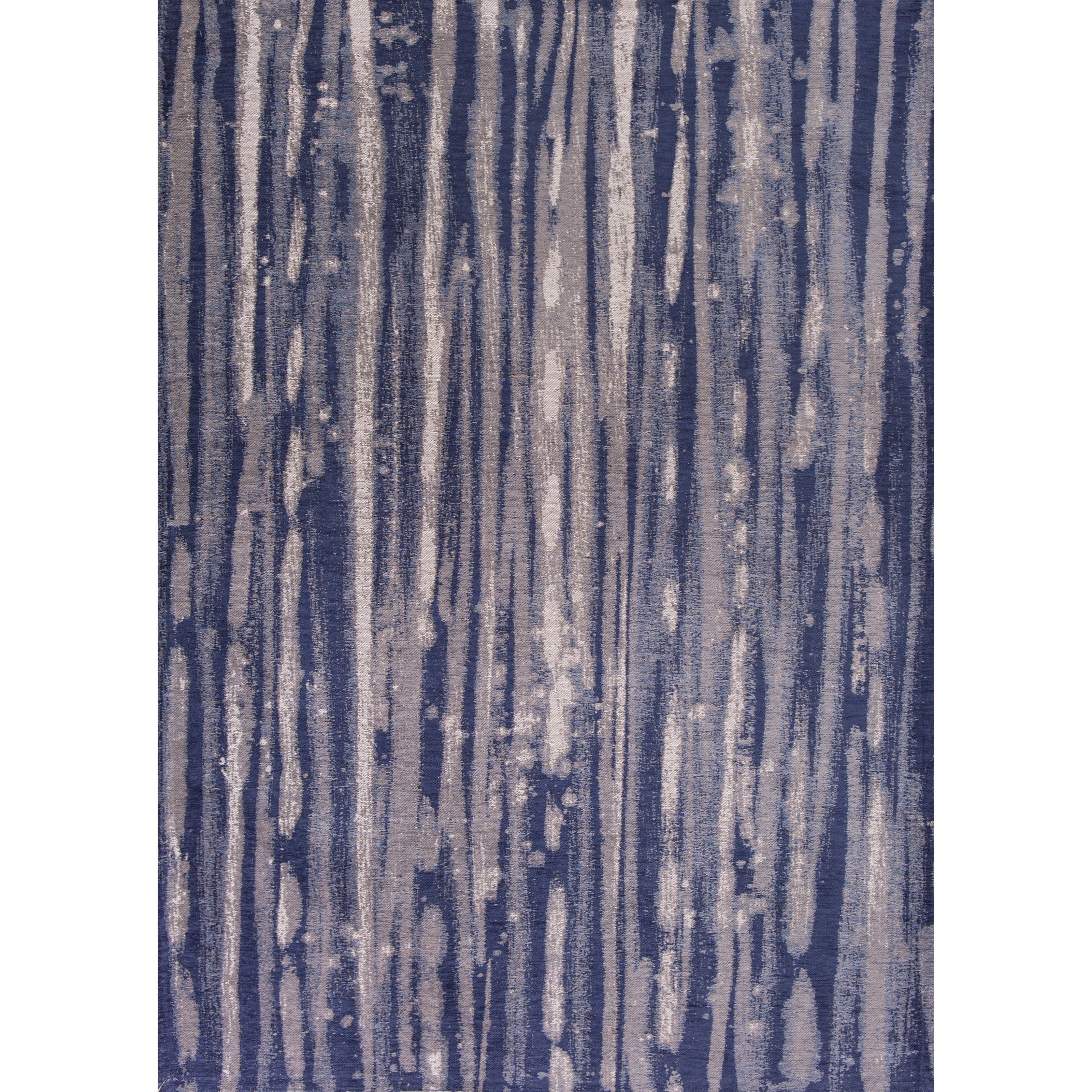 """Retreat 6'7"""" X 9'6"""" Navy Visions Area Rug by Kas at Zak's Home"""