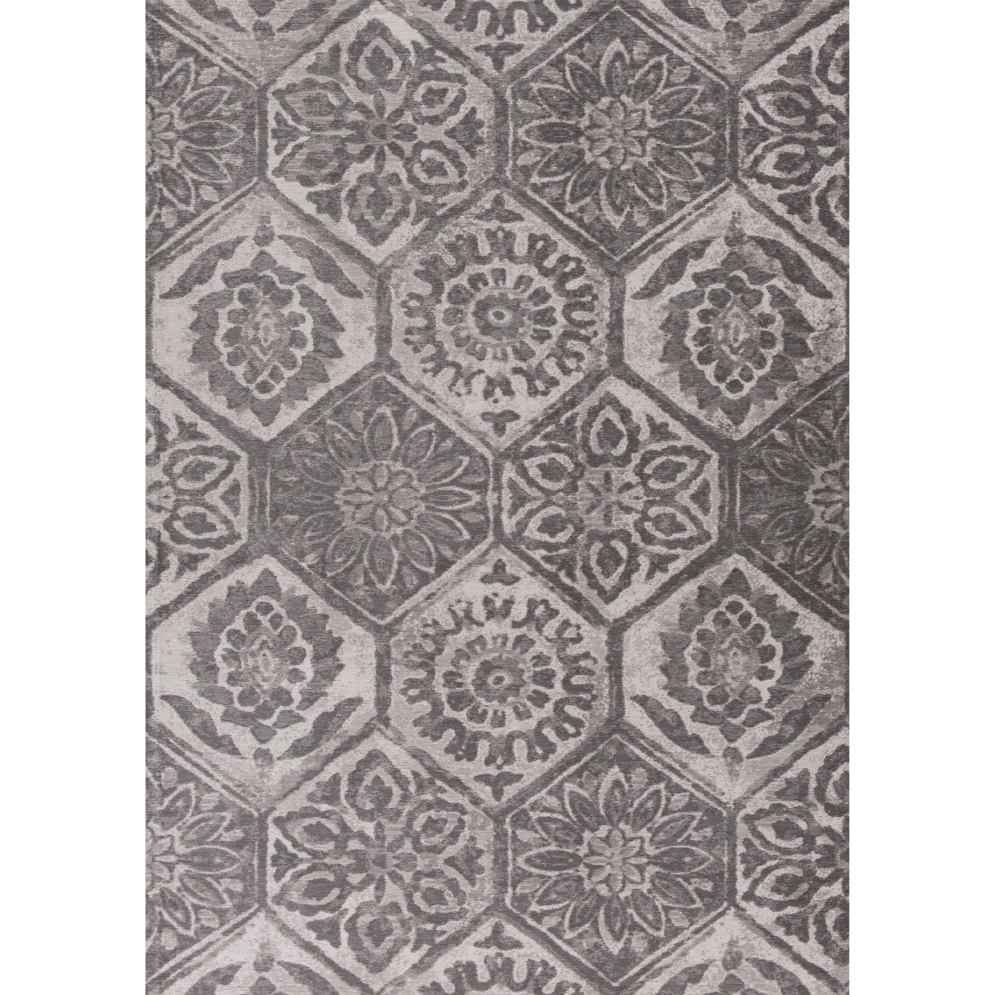 """Retreat 2'6"""" X 3'9"""" Grey Mosaic Area Rug by Kas at Zak's Home"""