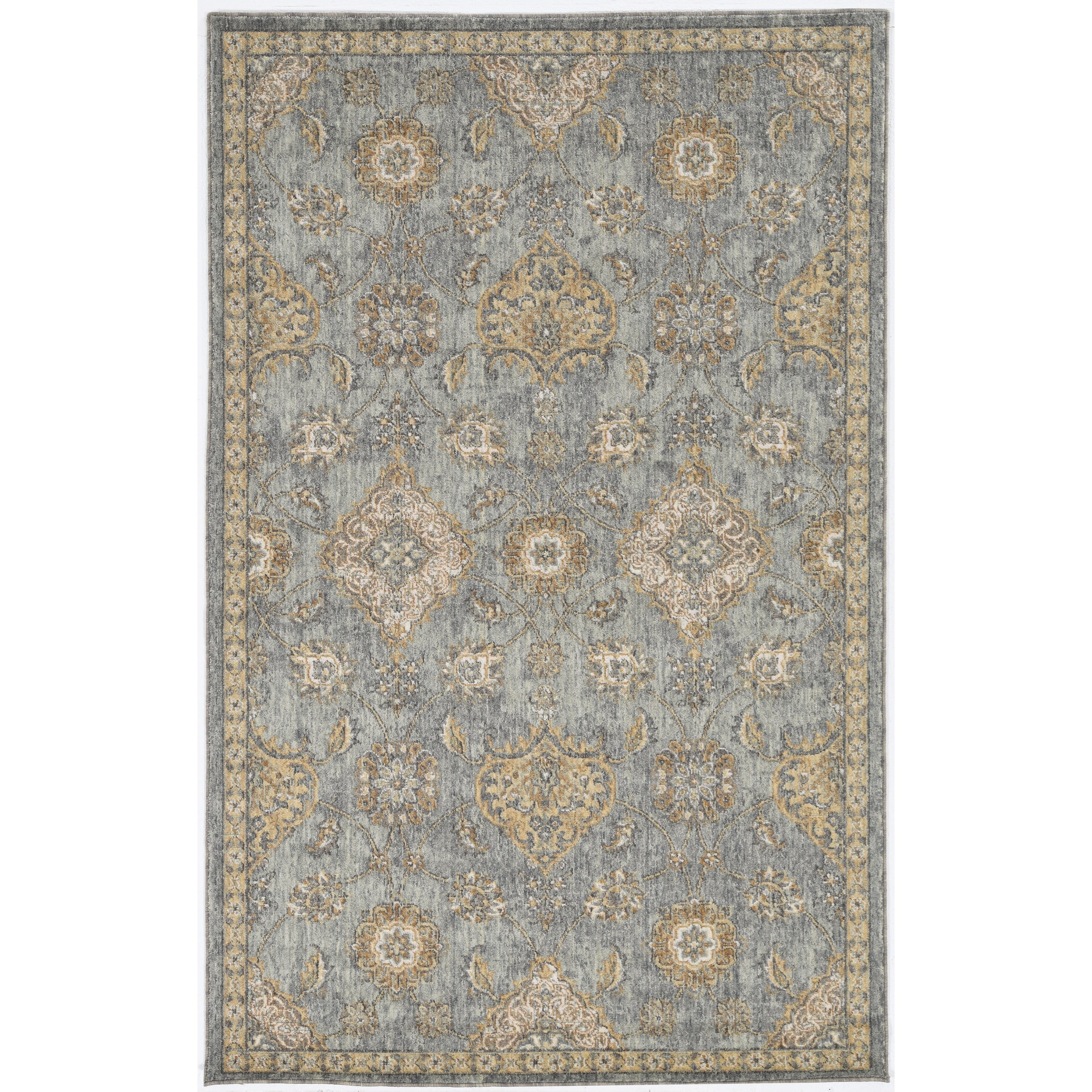 """Ria 2'3"""" x 7'6"""" Runner Sage Green Sofia Rug by Kas at Zak's Home"""