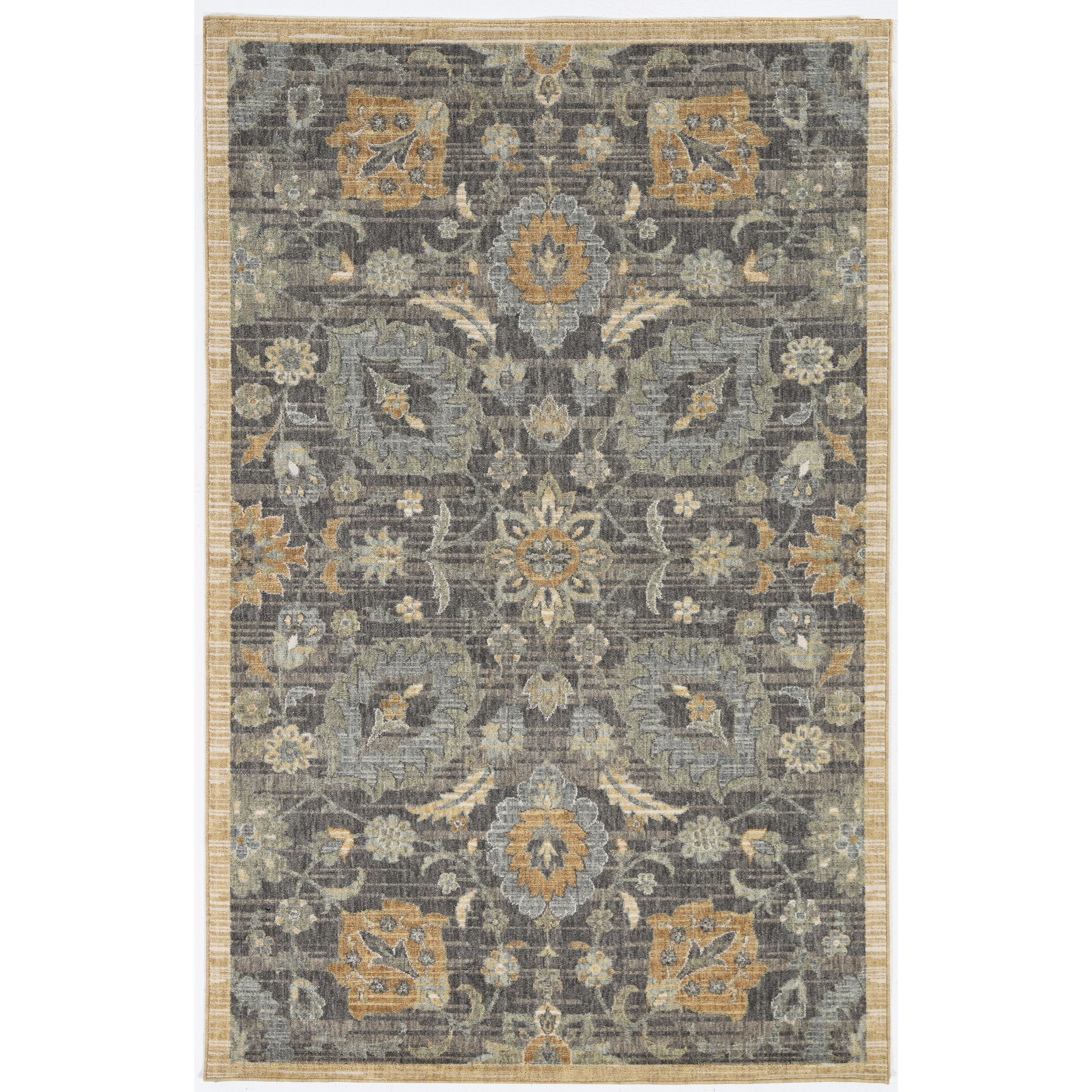 """Ria 5'3"""" x 7'7"""" Taupe Morris Rug by Kas at Walker's Furniture"""