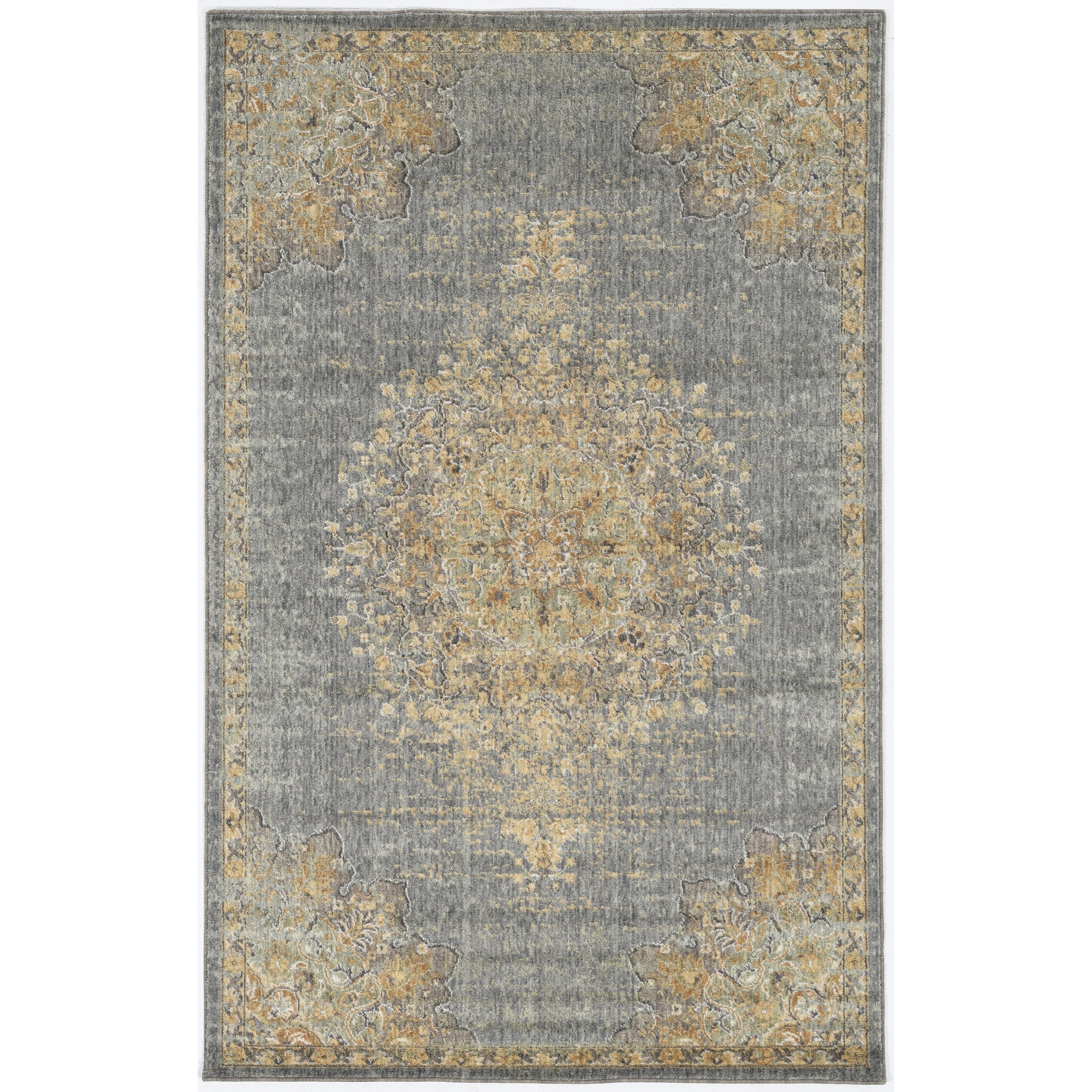 "Ria 2'3"" x 7'6"" Runner Slate Grey Elegance Rug by Kas at Zak's Home"